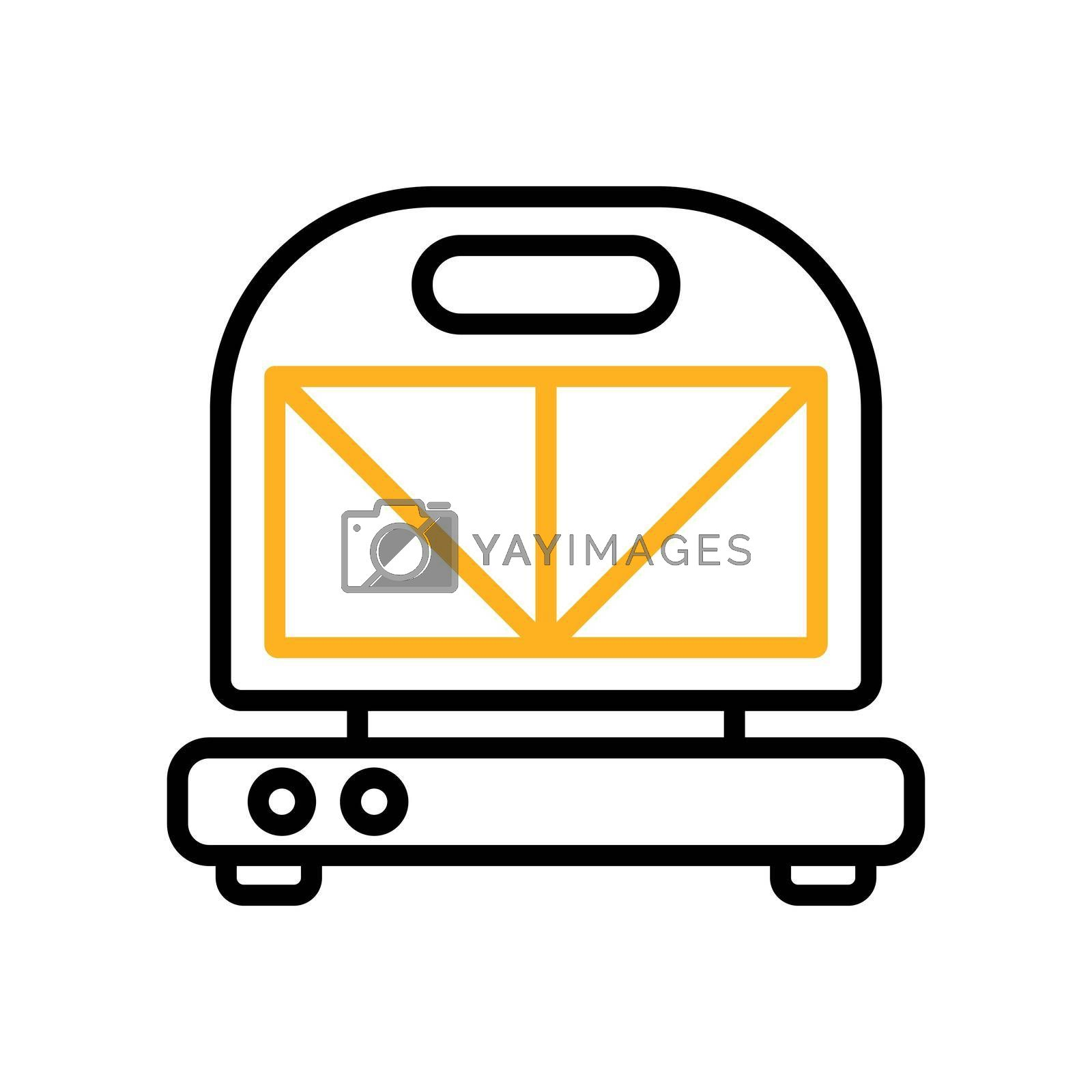 Royalty free image of Kitchen sandwich maker vector icon. Electric kitchen appliance by nosik