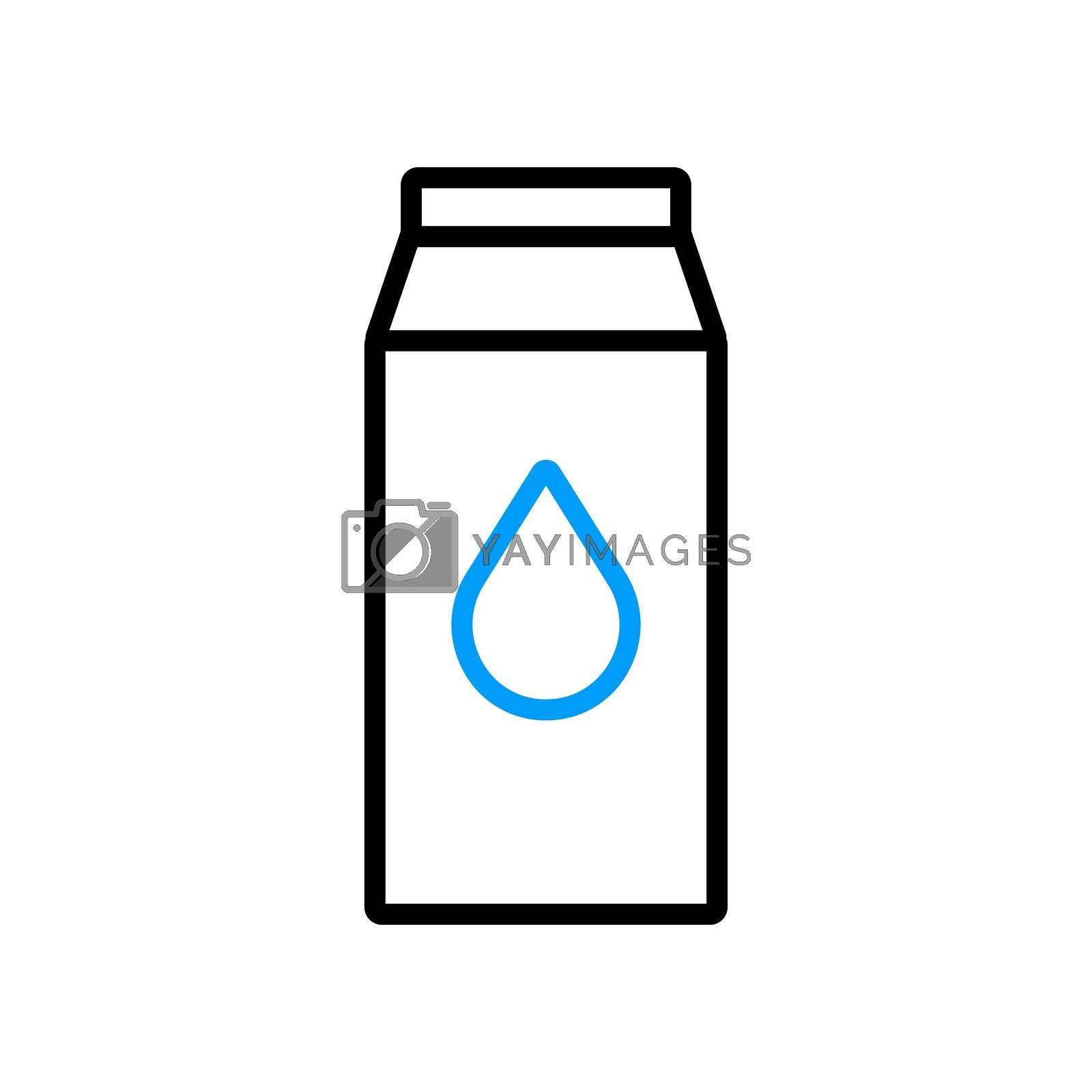 Royalty free image of Kitchen vector flat icon carton of milk by nosik