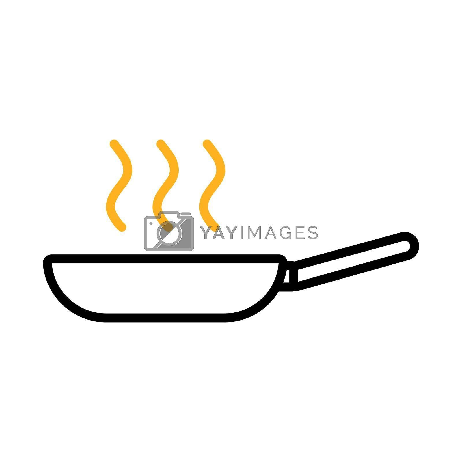 Royalty free image of Frying pan vector flat icon. Kitchen appliance by nosik