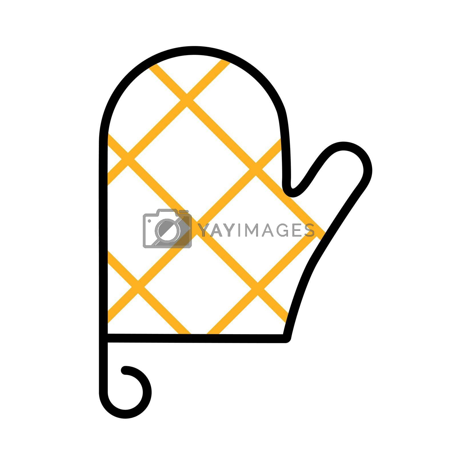 Royalty free image of Close up of kitchen protective glove vector icon by nosik