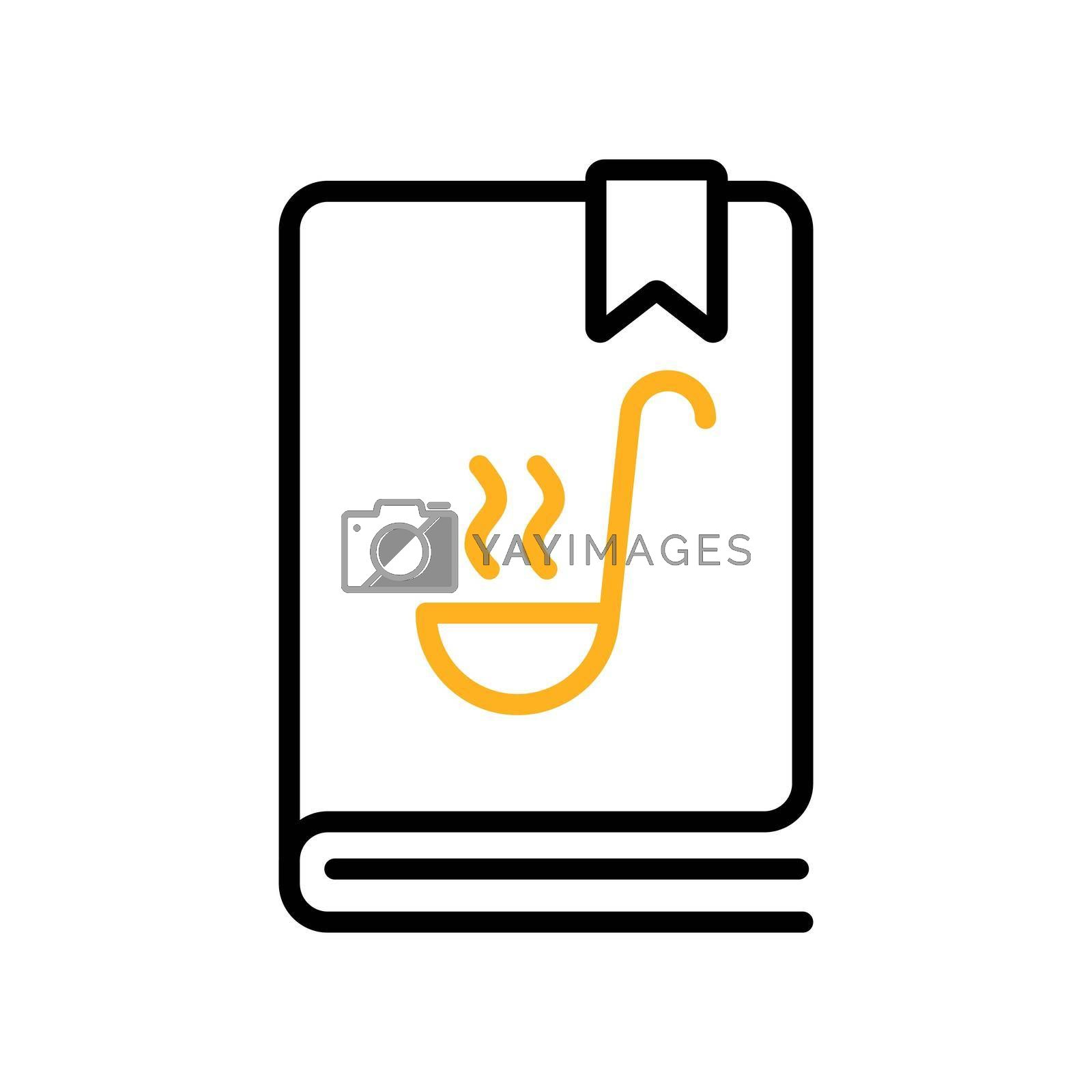 Royalty free image of Cookbook or cookery book vector icon. Recipe book by nosik