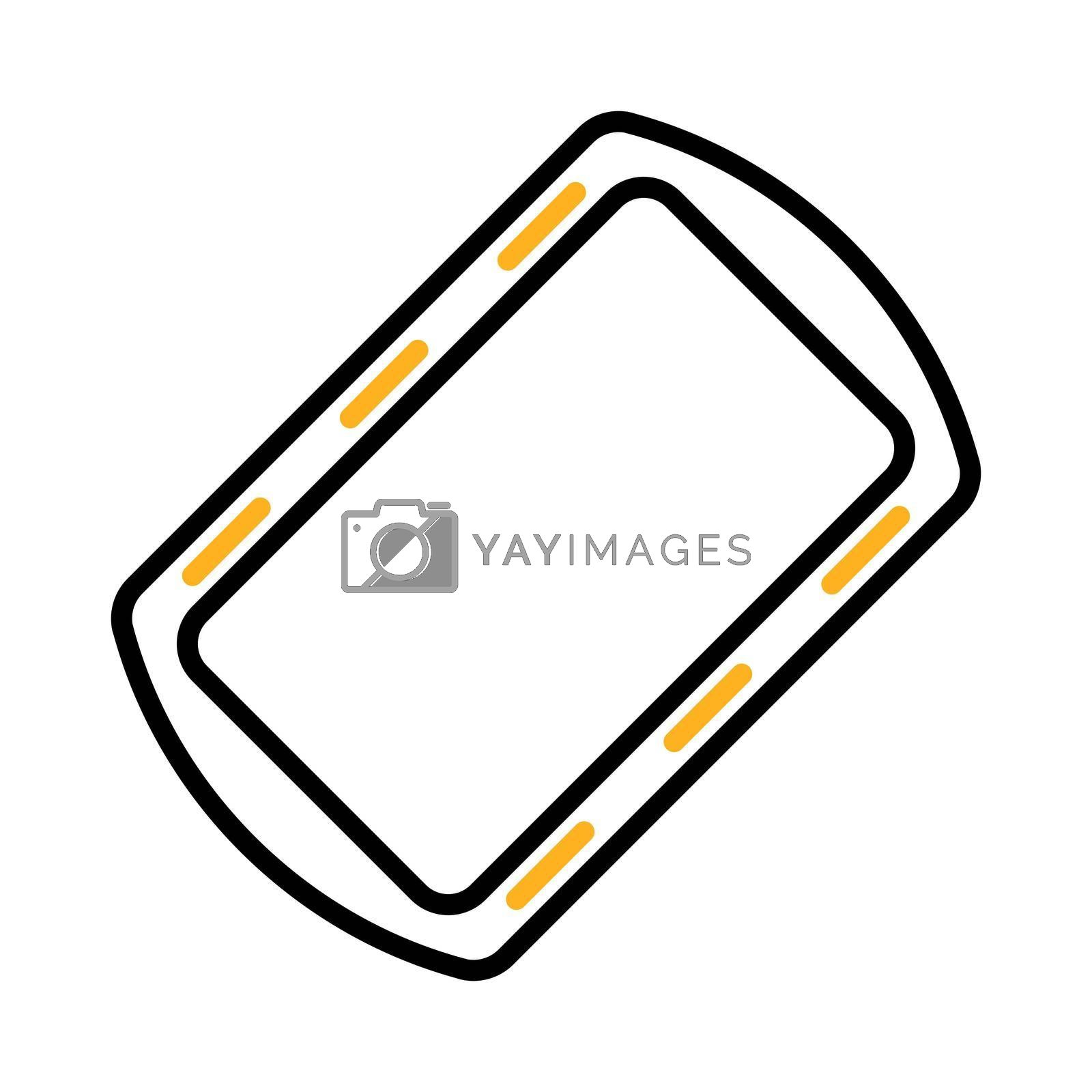 Royalty free image of Pan tray for cooking and baking in oven icon by nosik