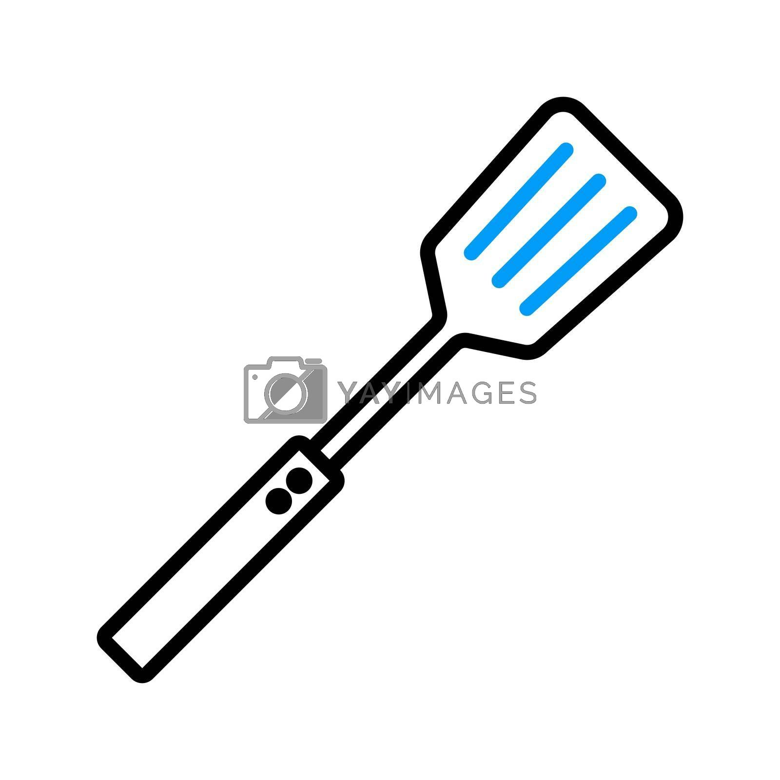 Royalty free image of Kitchen spatula vector flat icon. Kitchen appliance by nosik