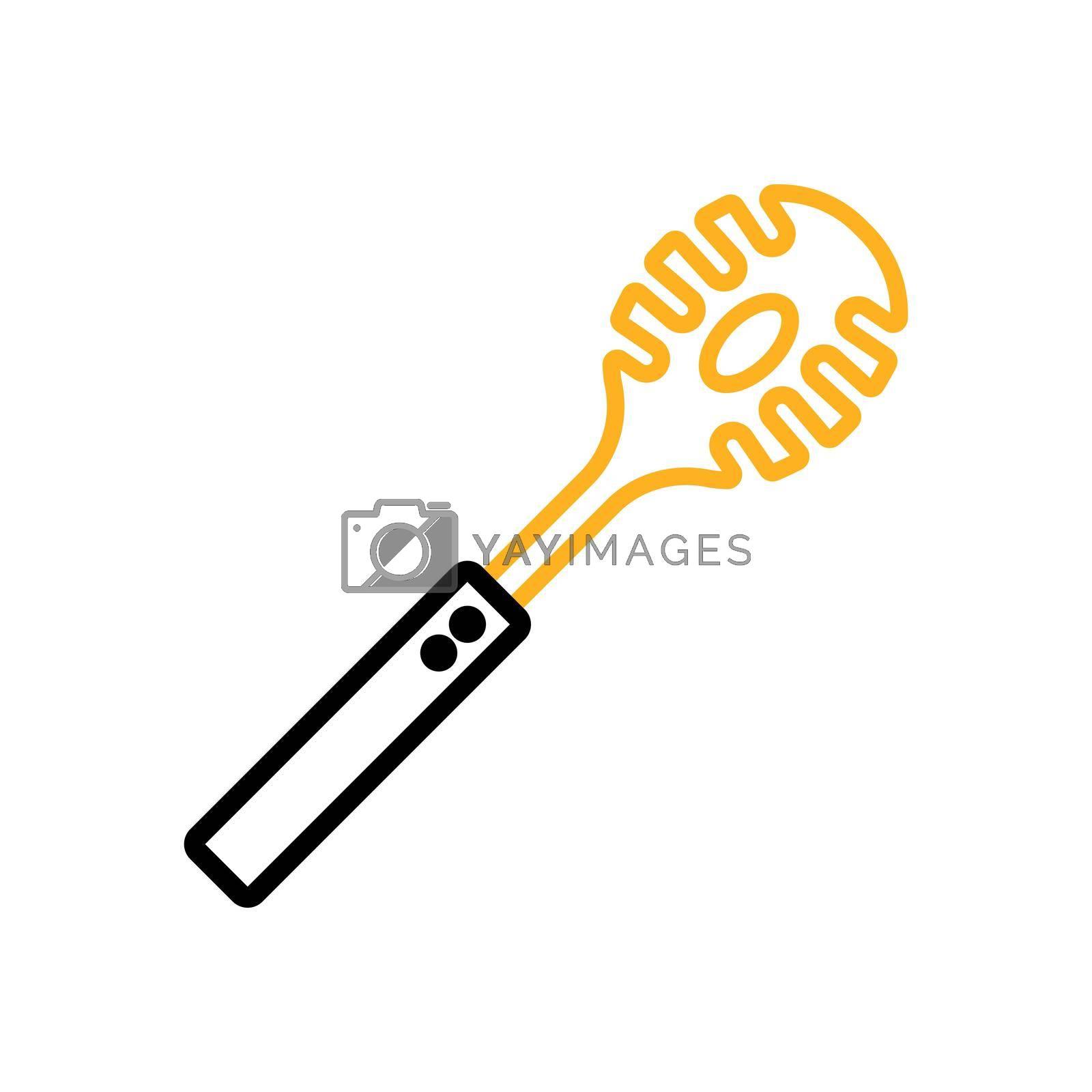 Royalty free image of Kitchenware spaghetti spoon vector icon. Kitchen appliances by nosik