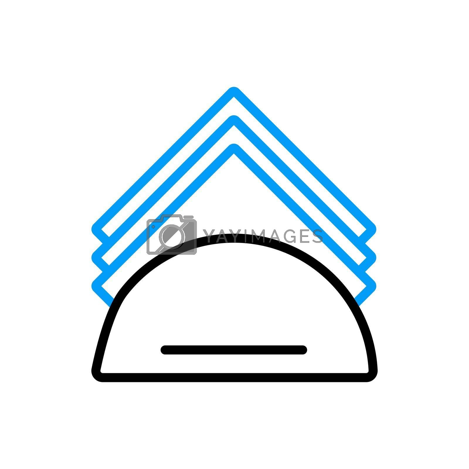 Royalty free image of Napkins and napkin holder vector flat icon by nosik