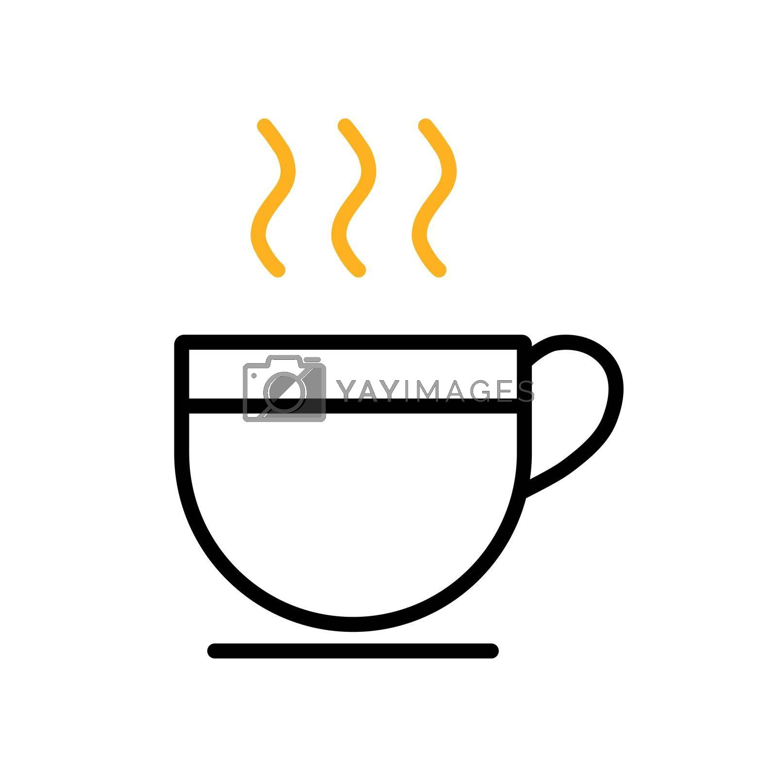 Royalty free image of Cup of coffee tea with steam vector icon by nosik