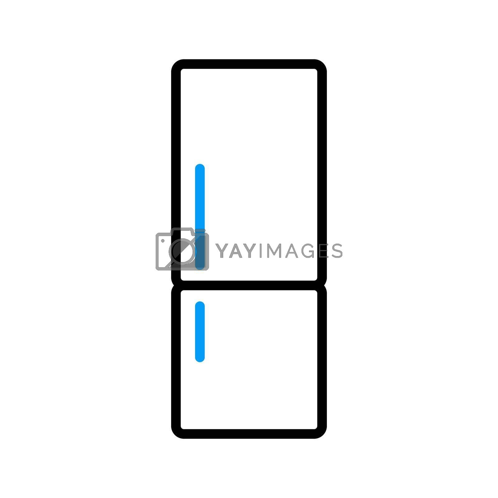 Royalty free image of Refrigerator vector flat icon. Electric kitchen appliance by nosik