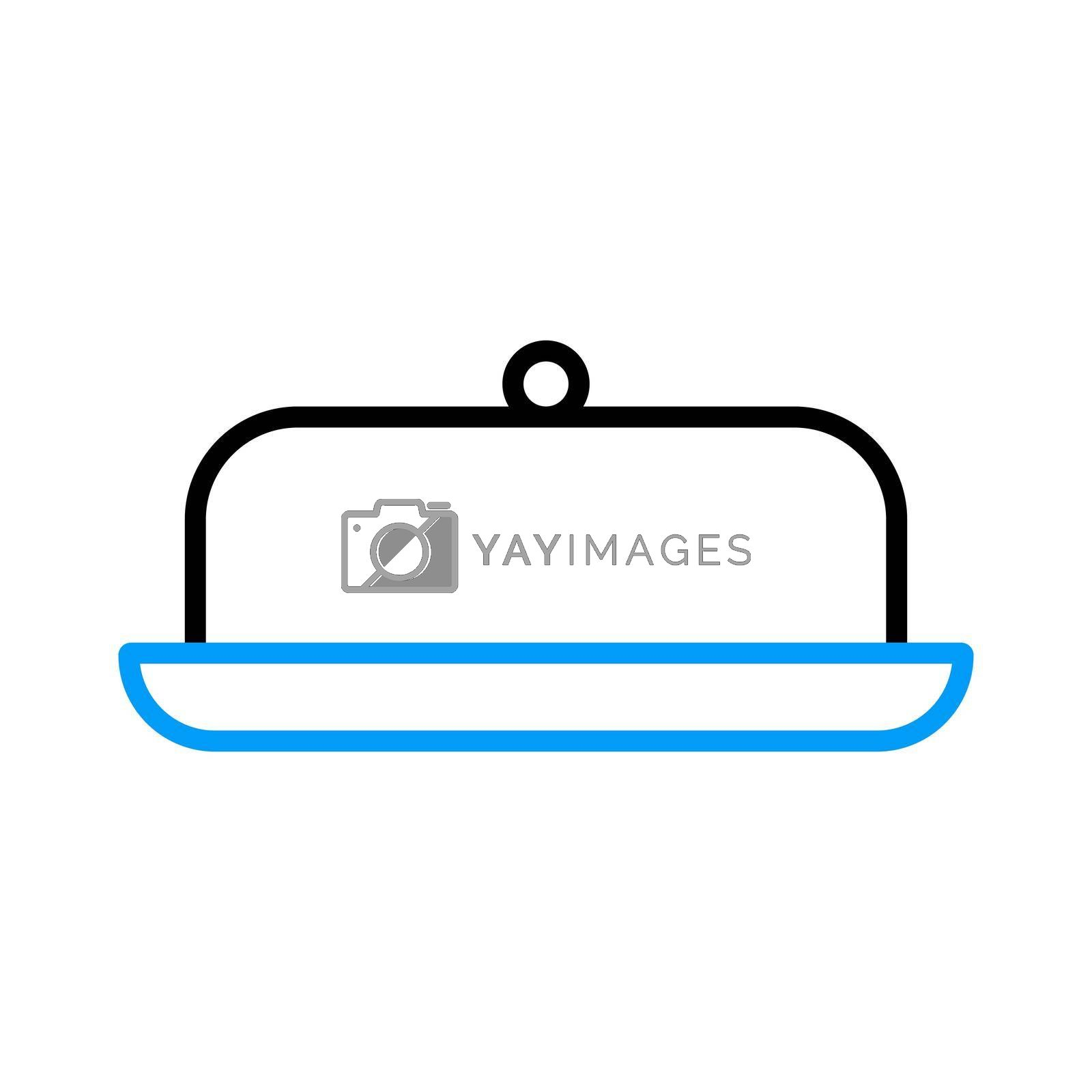 Royalty free image of Butter dish vector flat icon. Kitchen appliance by nosik