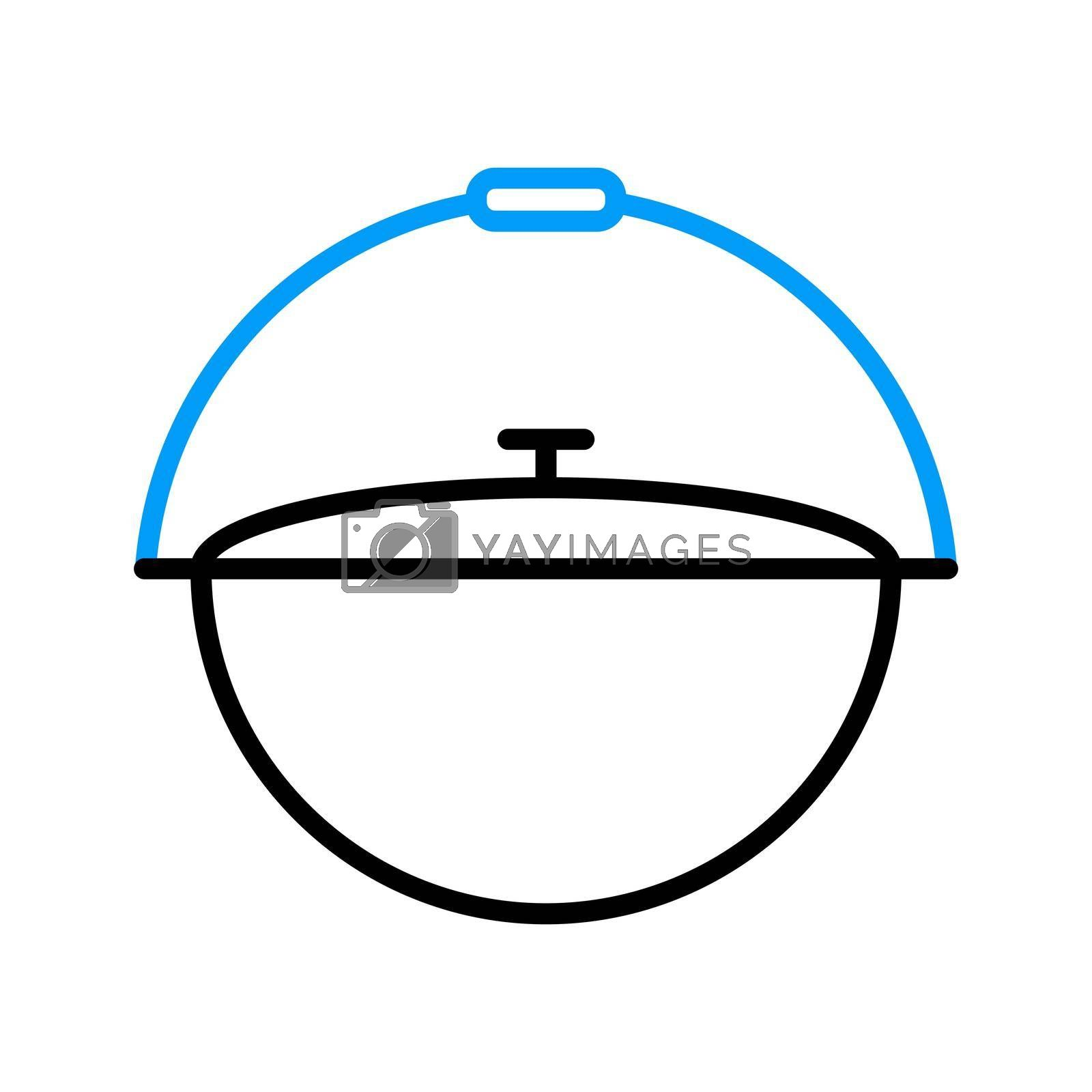 Royalty free image of Camping cauldron from metal vector flat icon by nosik