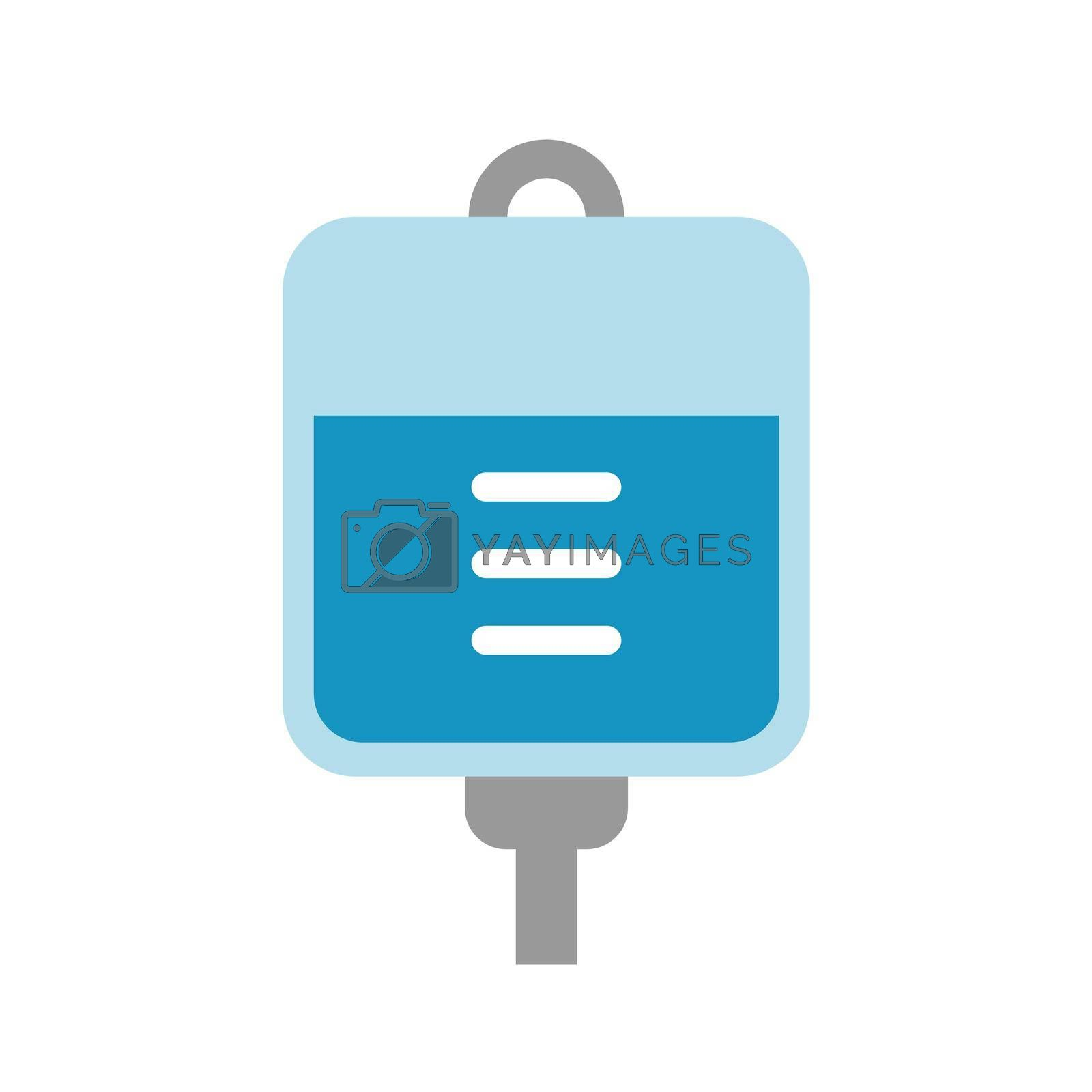 Royalty free image of intravenous drip ( iv, saline ) vector icon illustration by barks