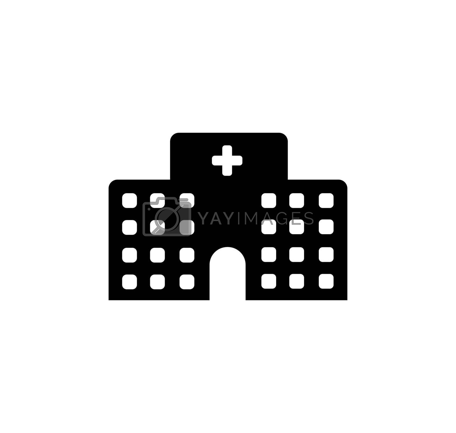 Royalty free image of Hospital, clinic vector icon illustration by barks