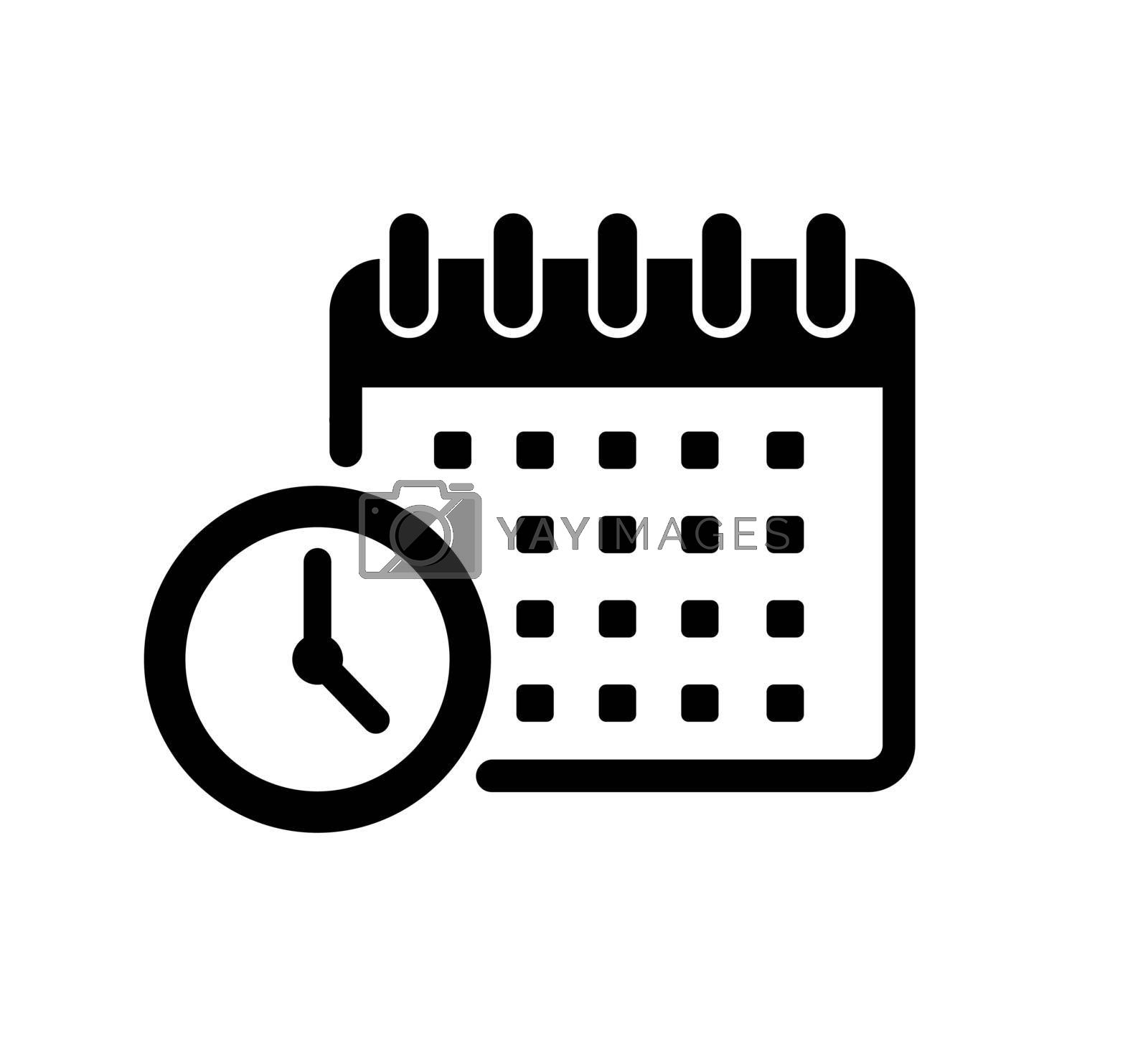Royalty free image of Schedule, task management vector icon illustration by barks