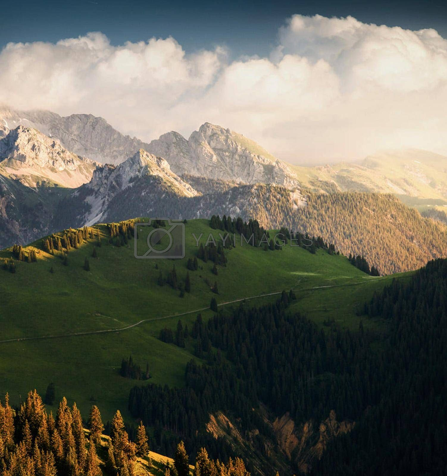 Royalty free image of Beautiful Gstaad Switzerland pictures by TravelSync27