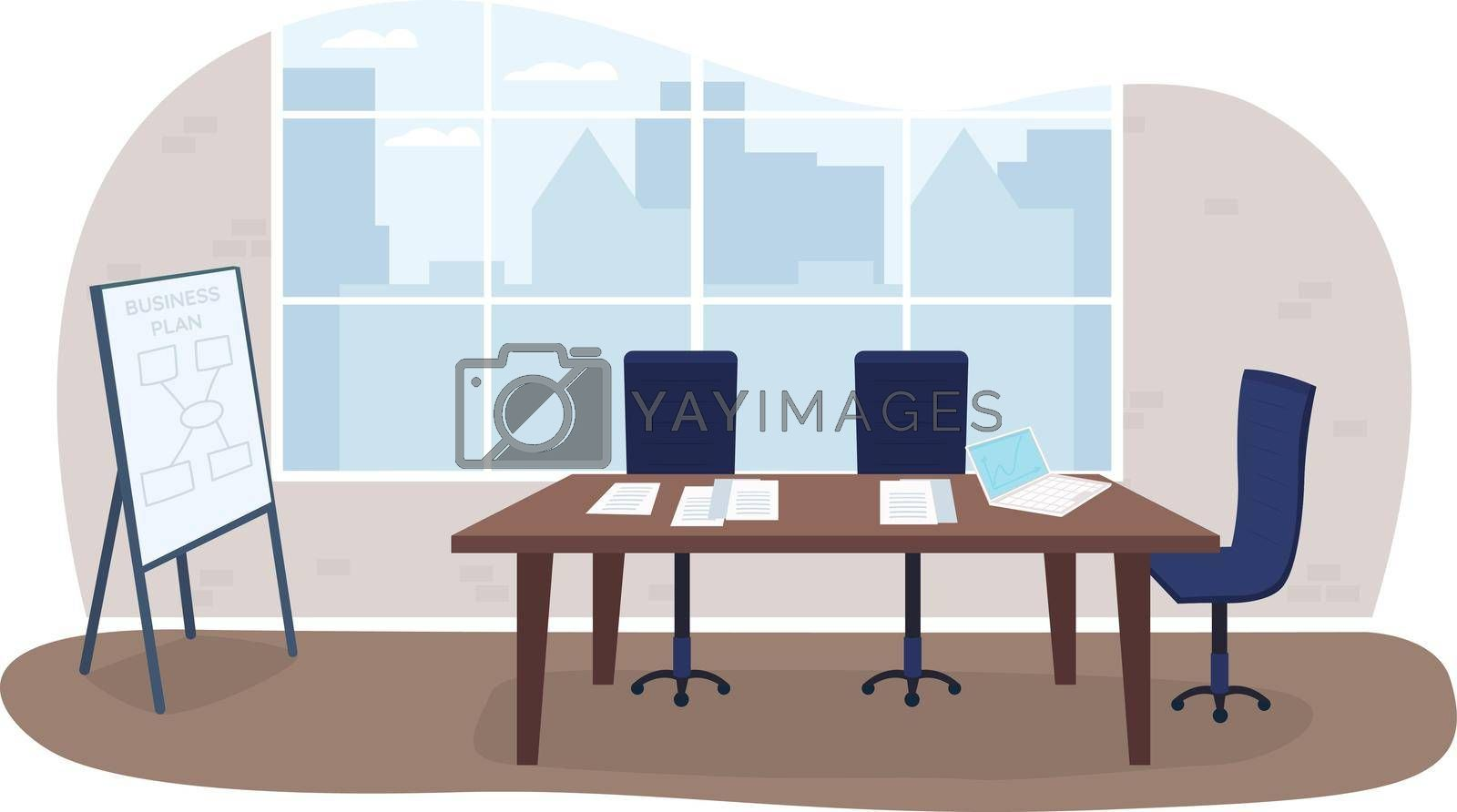 Royalty free image of Office meeting room 2D vector web banner, poster by ntl