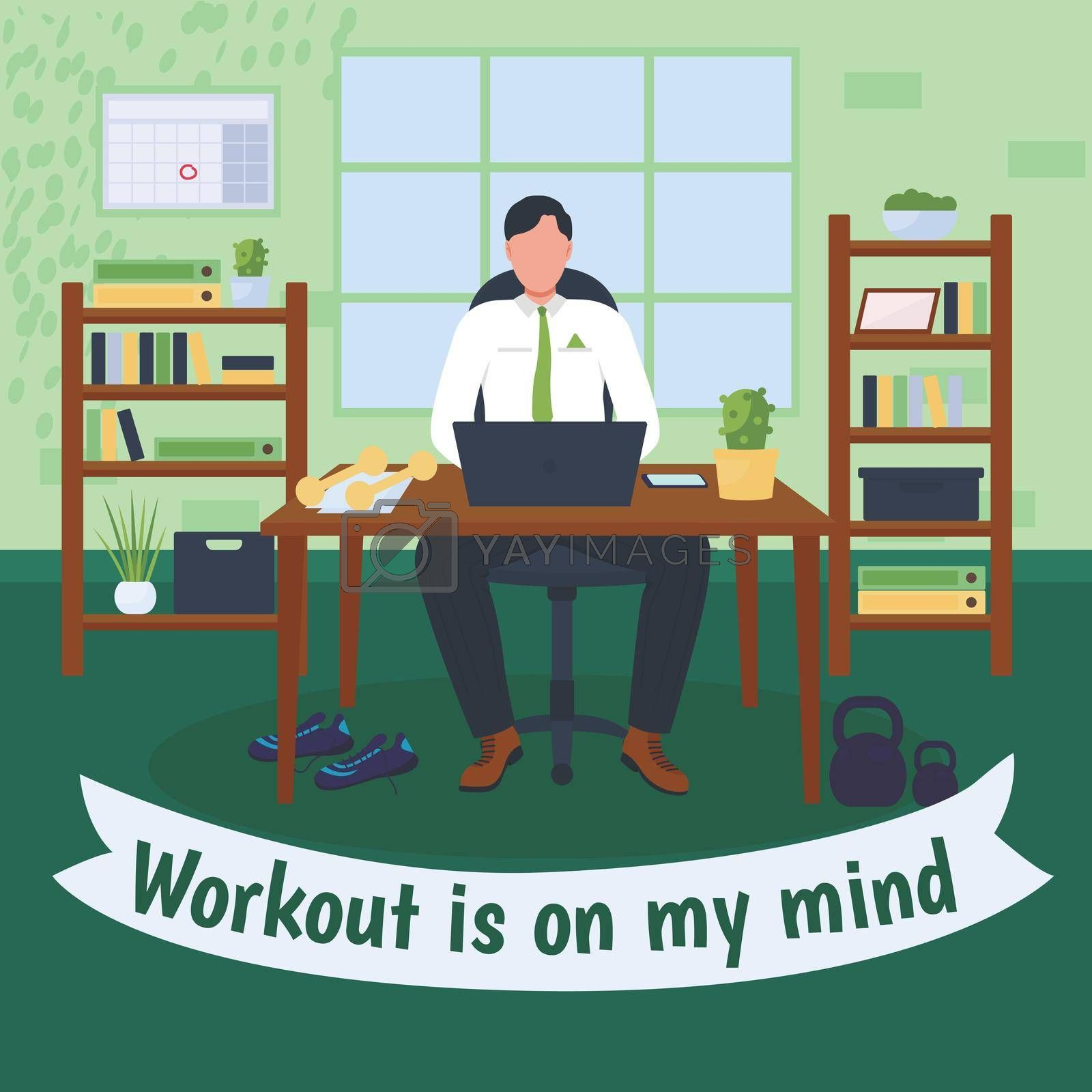 Royalty free image of Workout at workplace social media post mockup by ntl