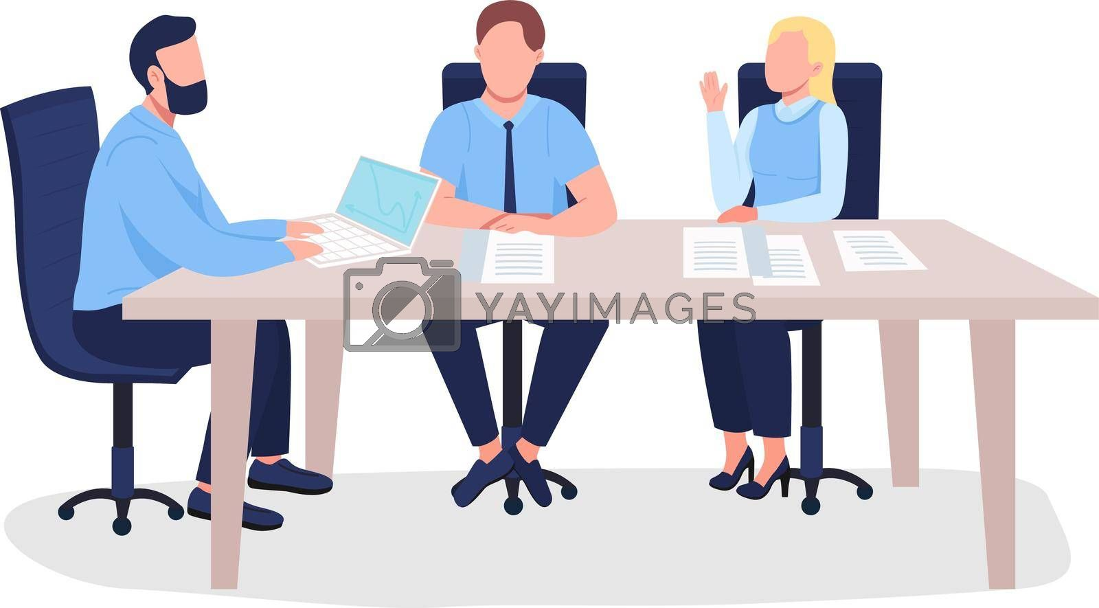 Royalty free image of Business people flat color vector faceless characters by ntl