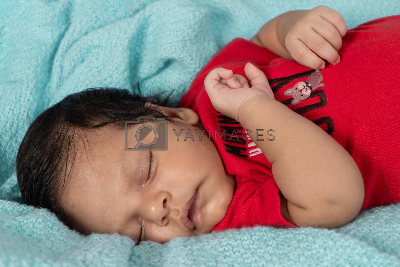 Royalty free image of Sleeping baby by jrivalta