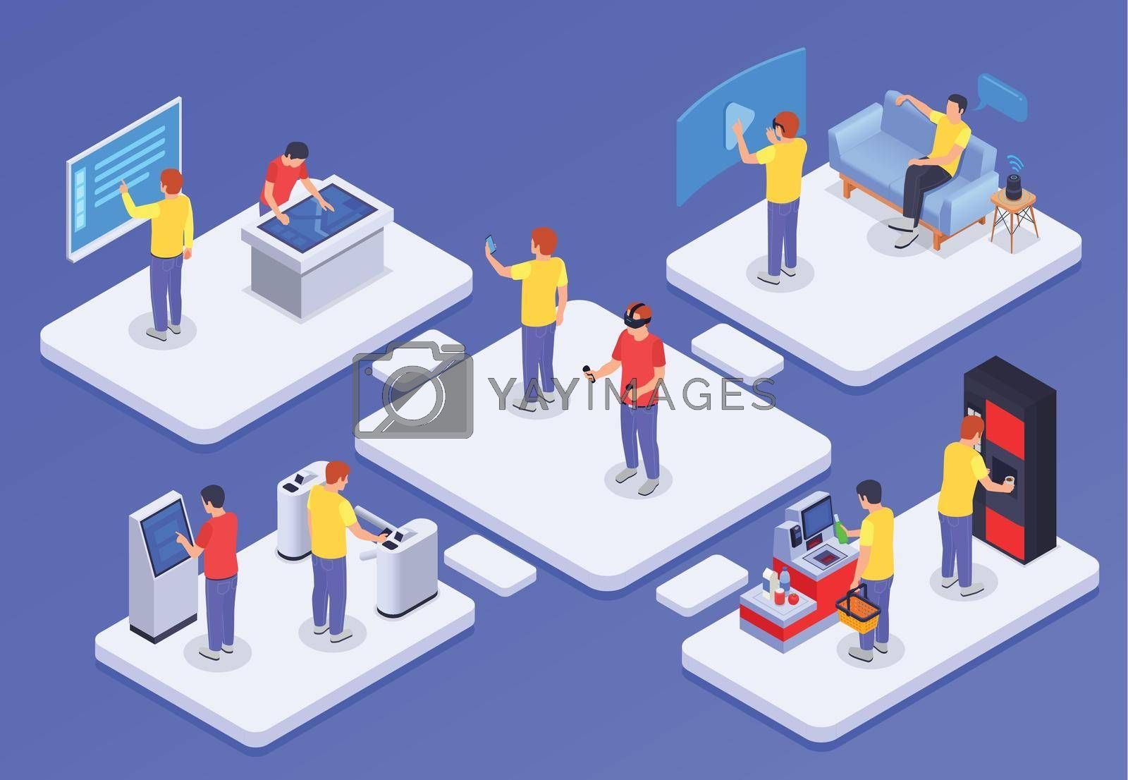 Royalty free image of People And Interfaces Concept by mstjahanara