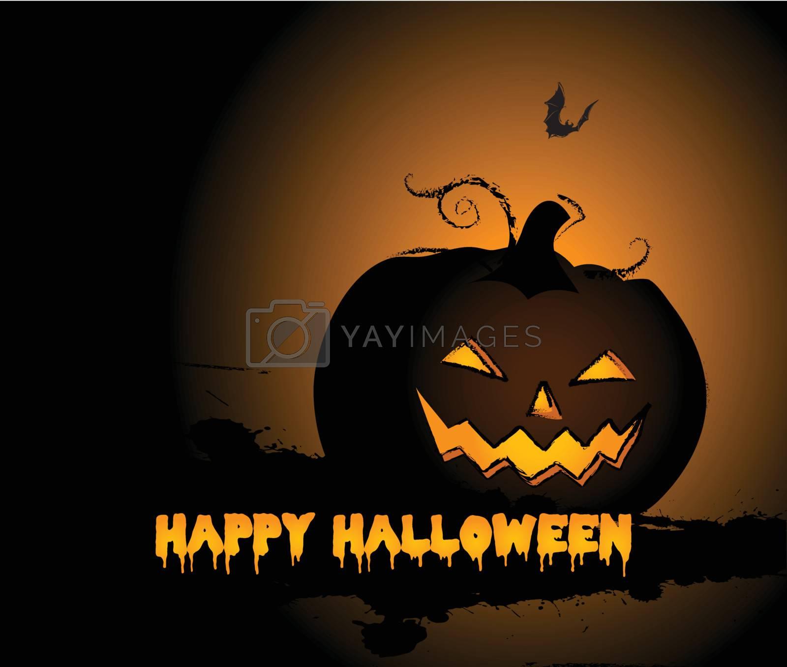 Halloween Pumpkin background and bat