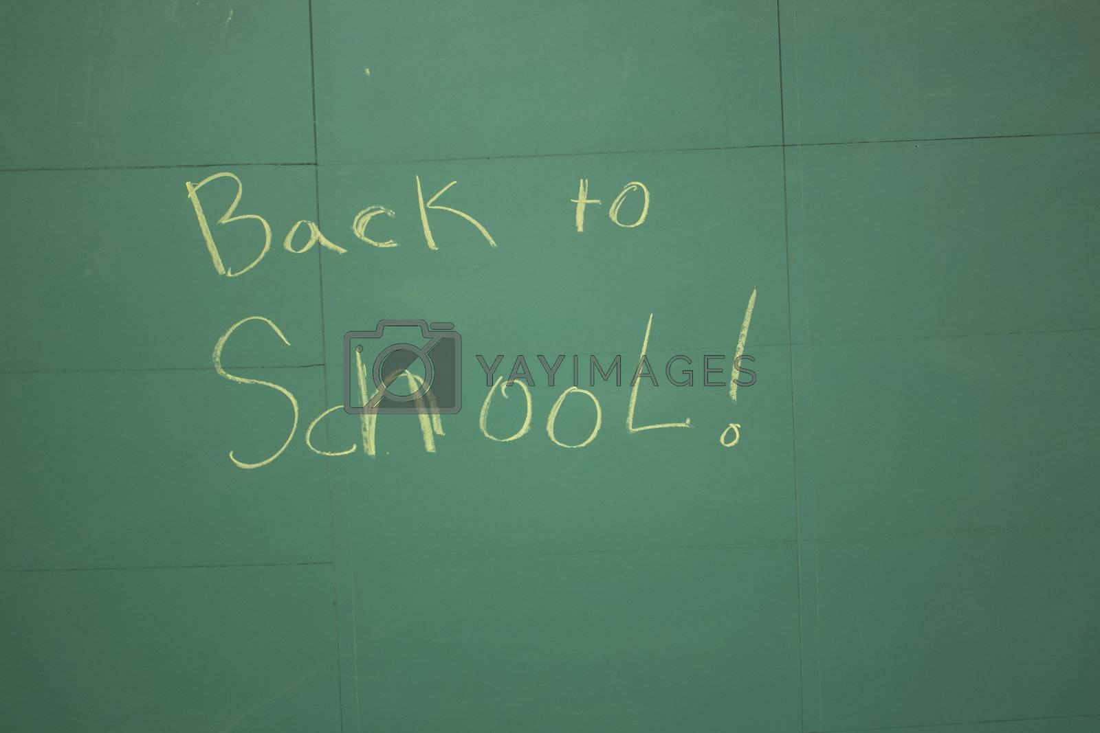 back to school on a chalk board