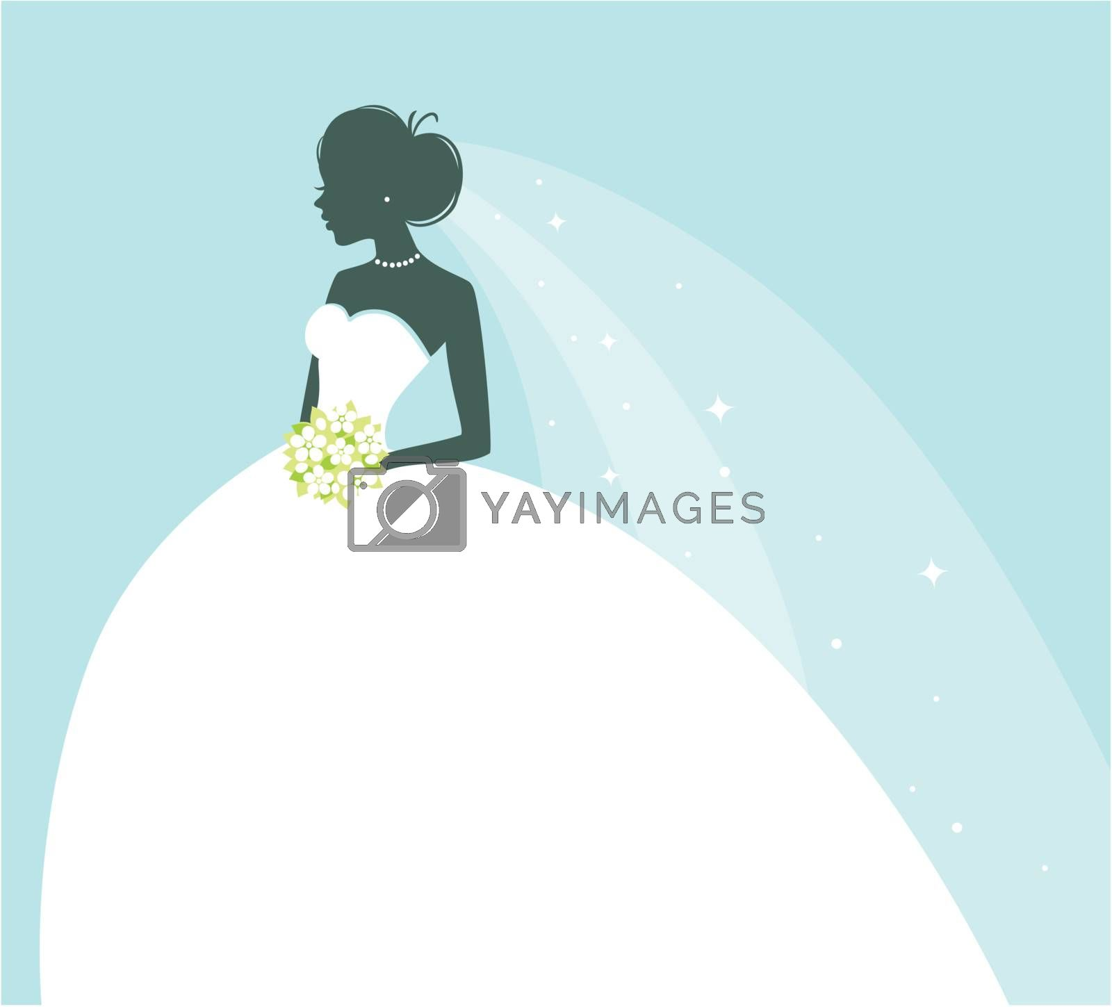 Vector illustration of Beauty bride