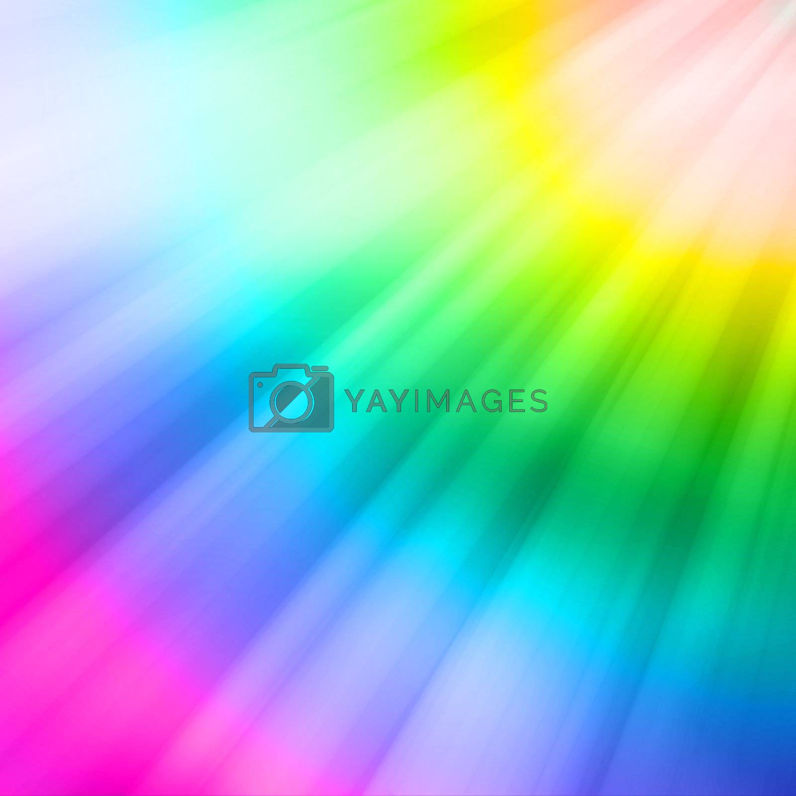 Reflections appearing in a downward angle on the colors of the rainbow
