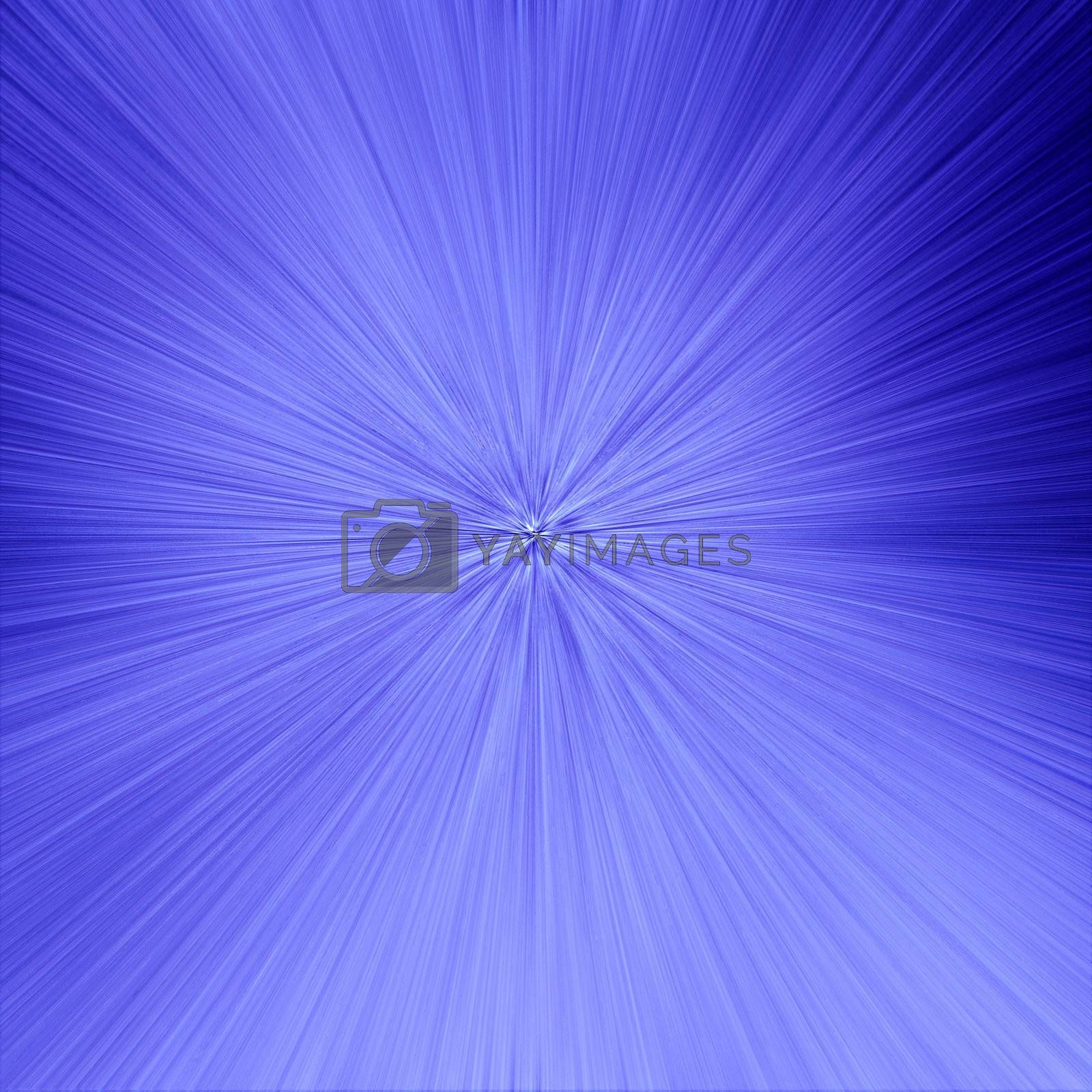 Straight lines converging against a blue background