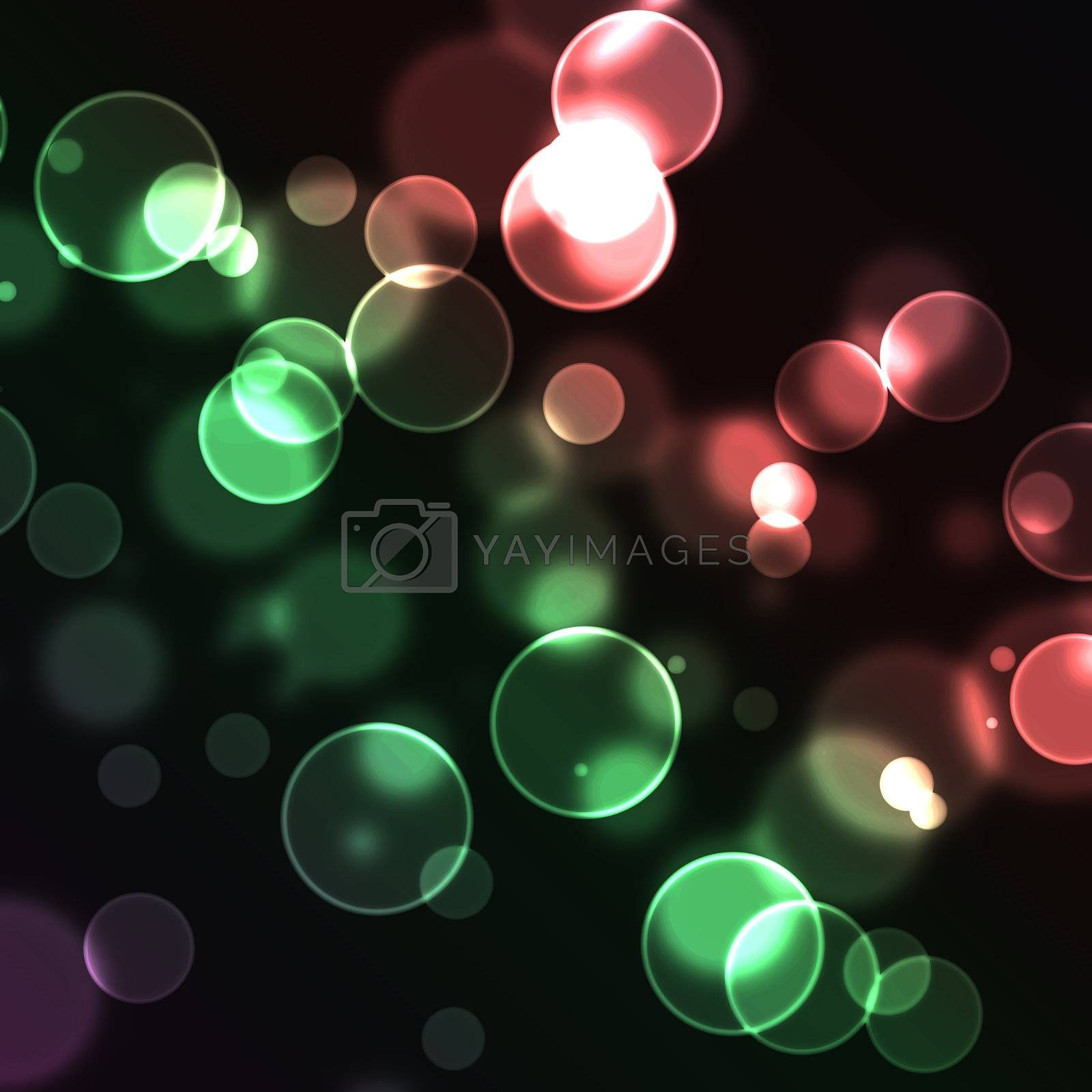 Red and green bubbles by Wavebreakmedia