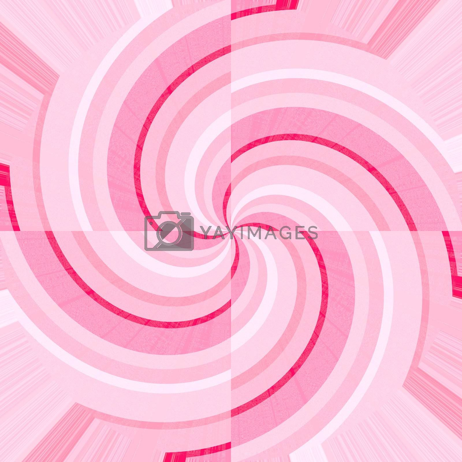Pink and white curves forming spirals