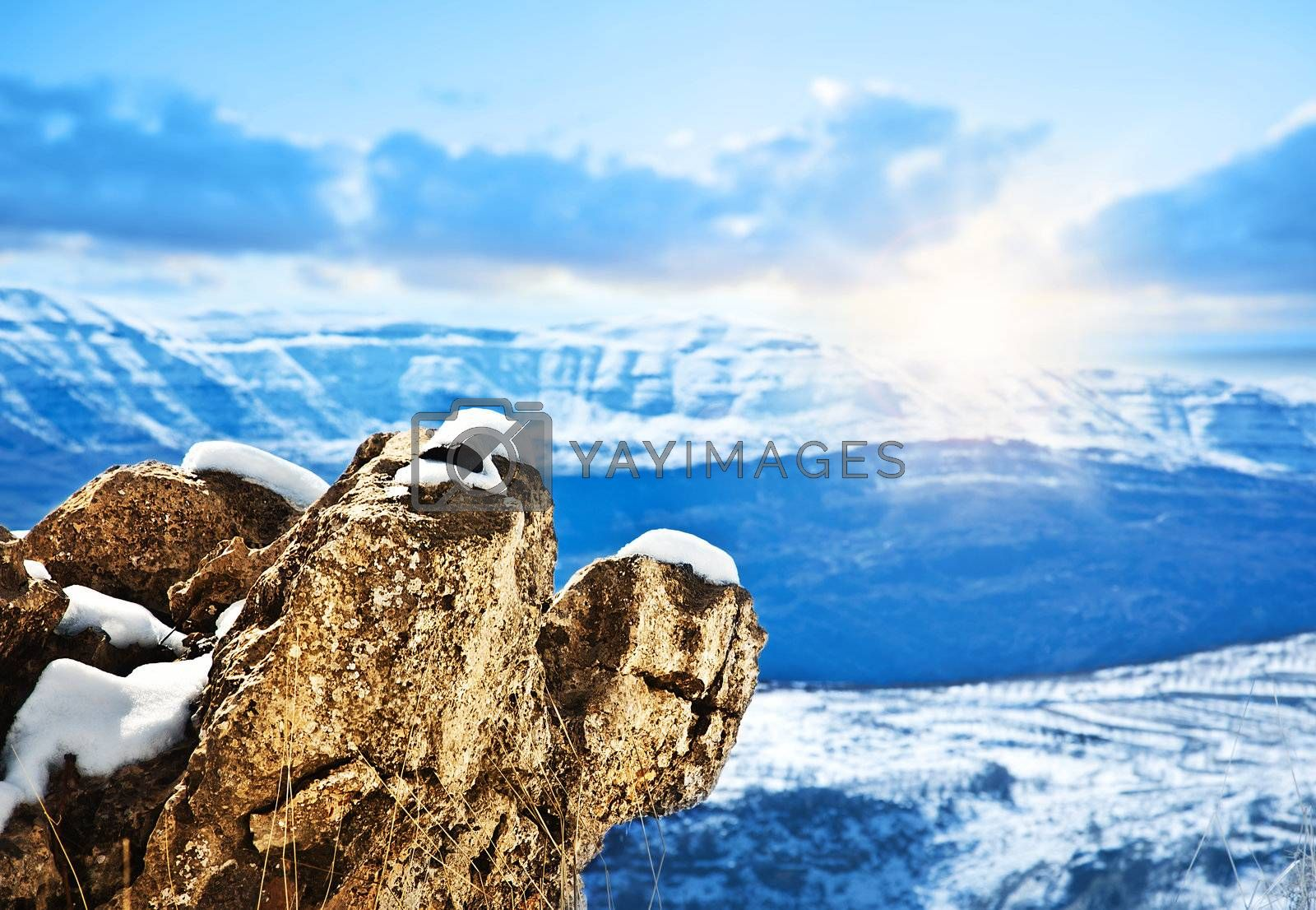 Beautiful winter mountains landscape by Anna_Omelchenko