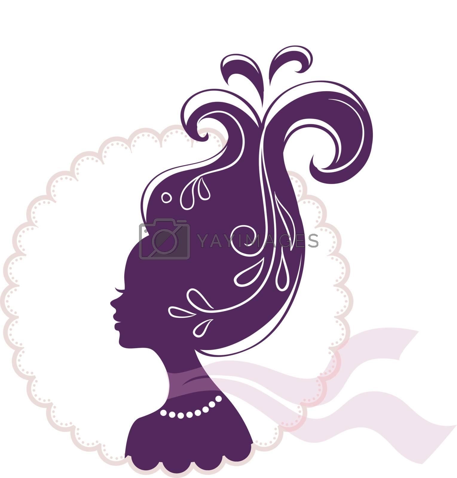 Vector illustration of Beautiful woman pic