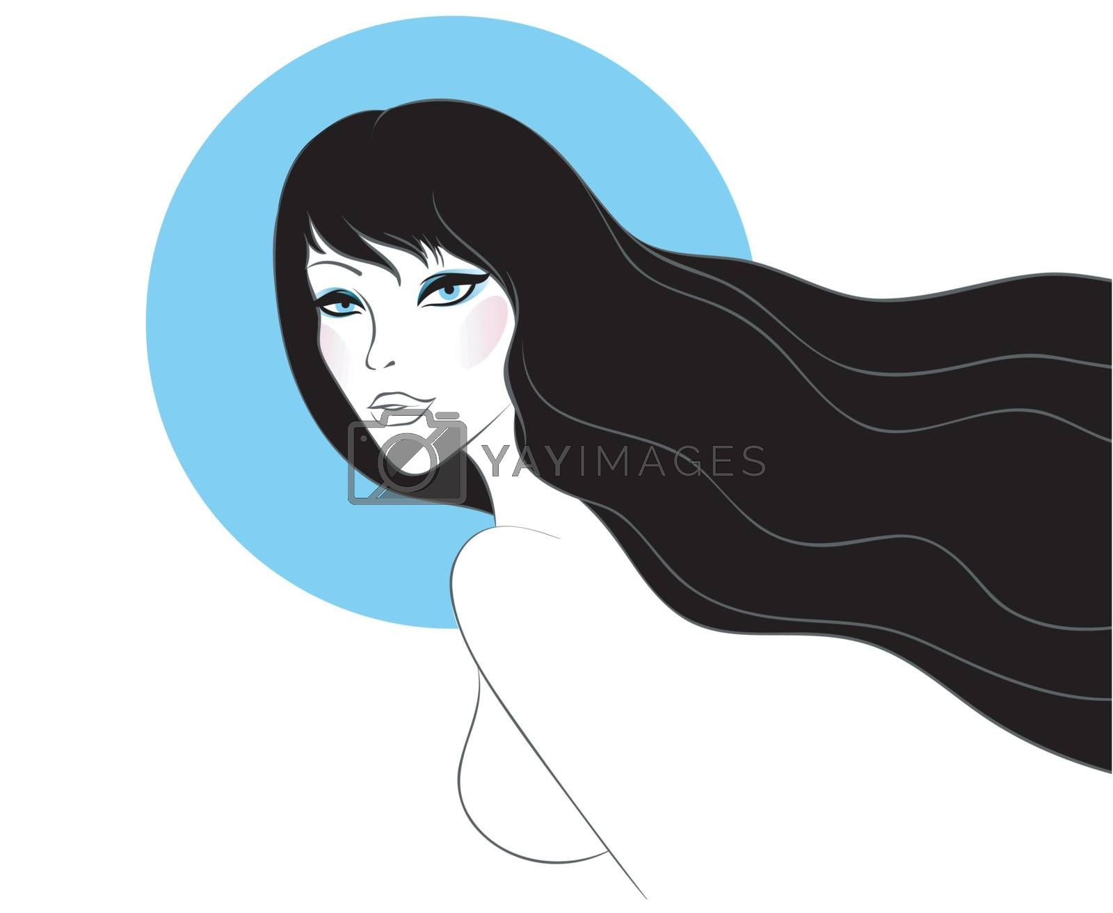 Vector illustration of Beauty woman pic
