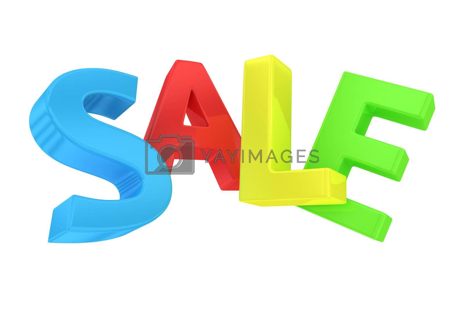 "Word ""Sale"" written by multicolored letters"