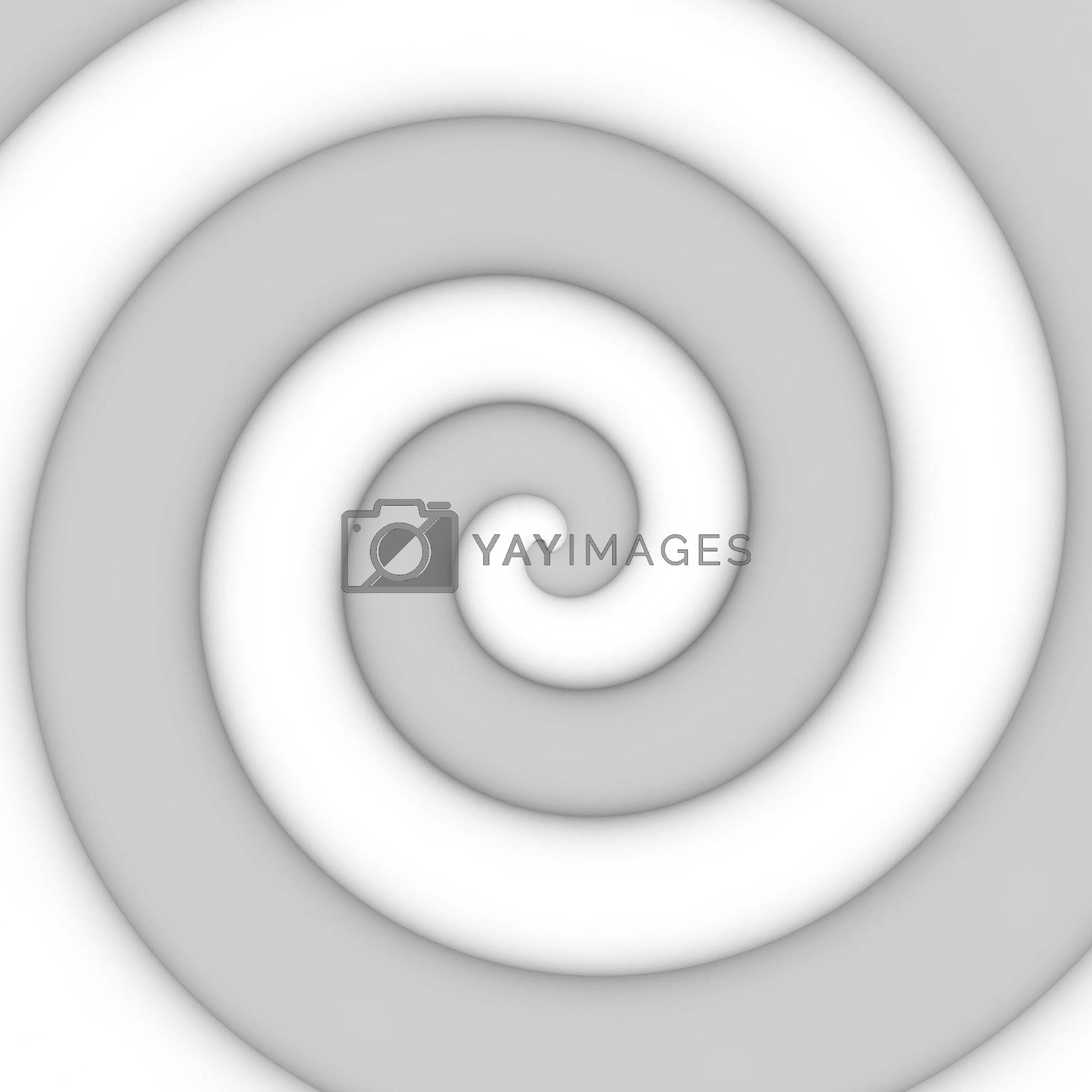 Abstract background of gray spiral swirl