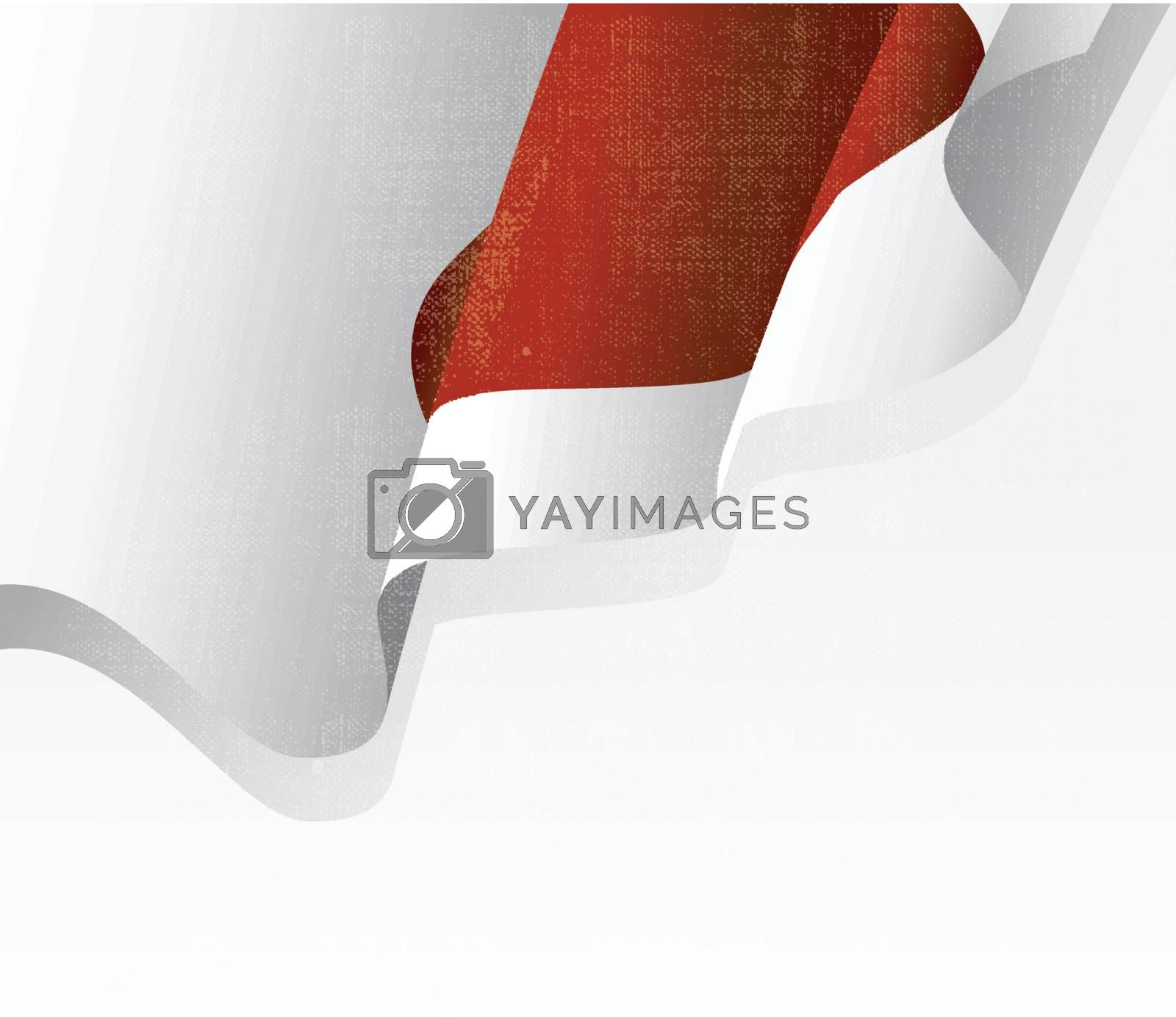 Japan flag with copy space and grunge effect