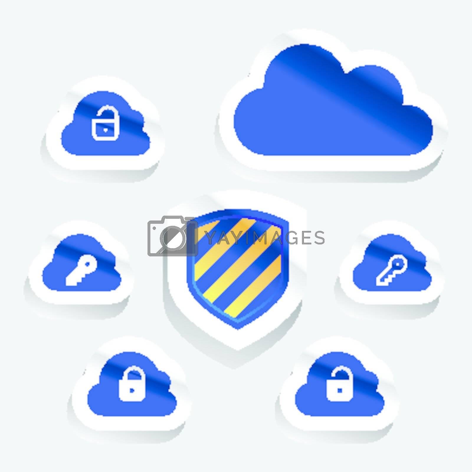 Cloud computing internet security concept