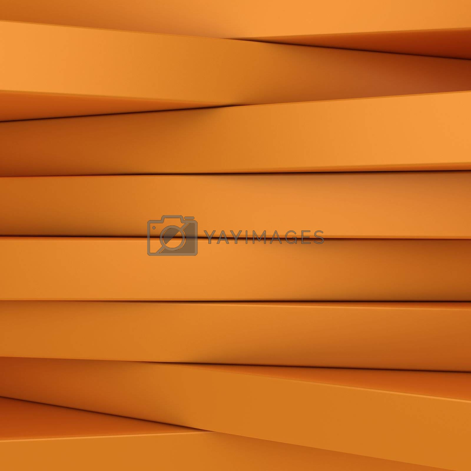 Abstract orange panels with copyspace for text, etc OR just 3D background
