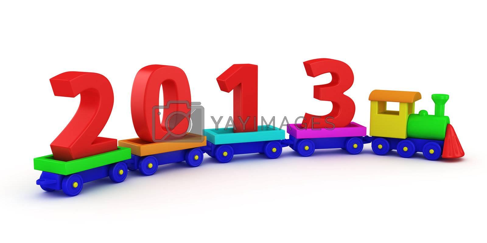 Children train with red digits 2013