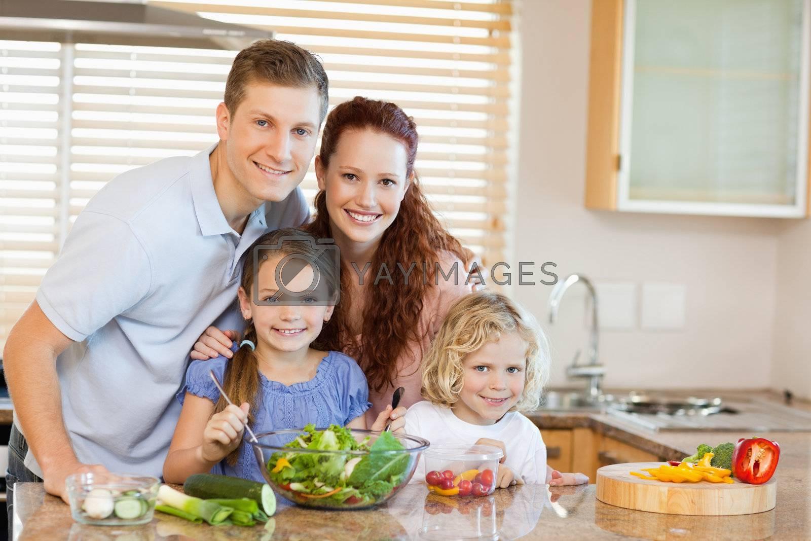 Family in the kitchen by Wavebreakmedia