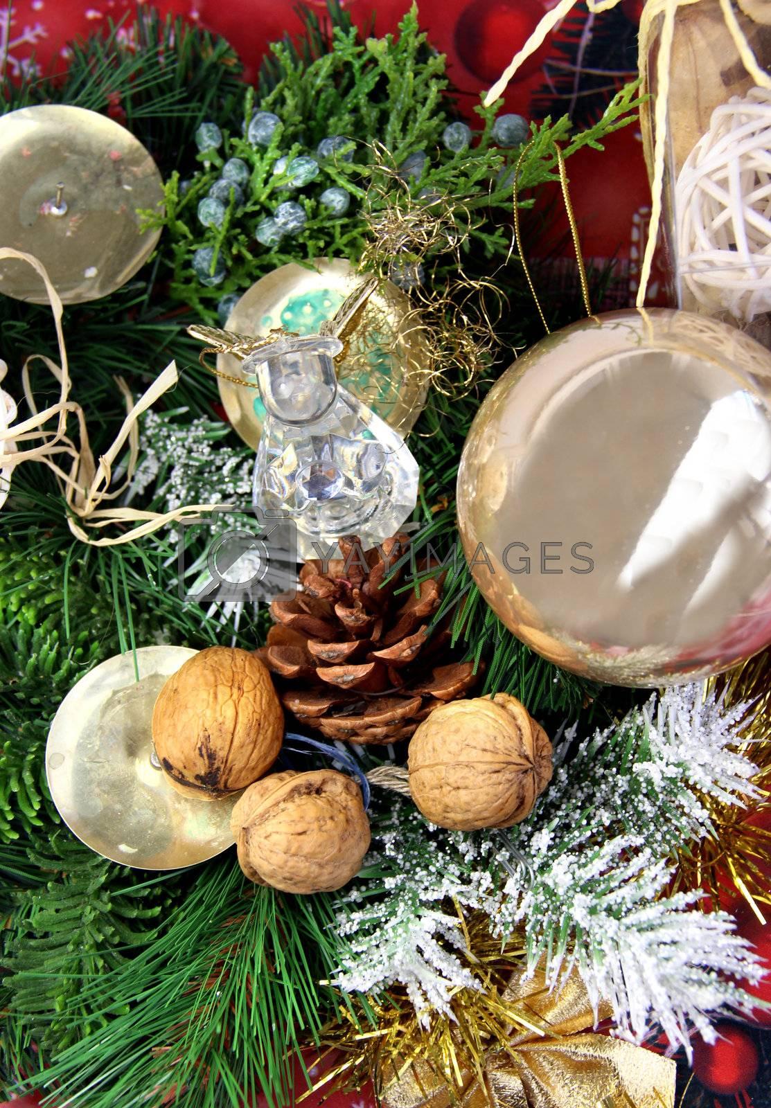 Big mix of Christmas decorations
