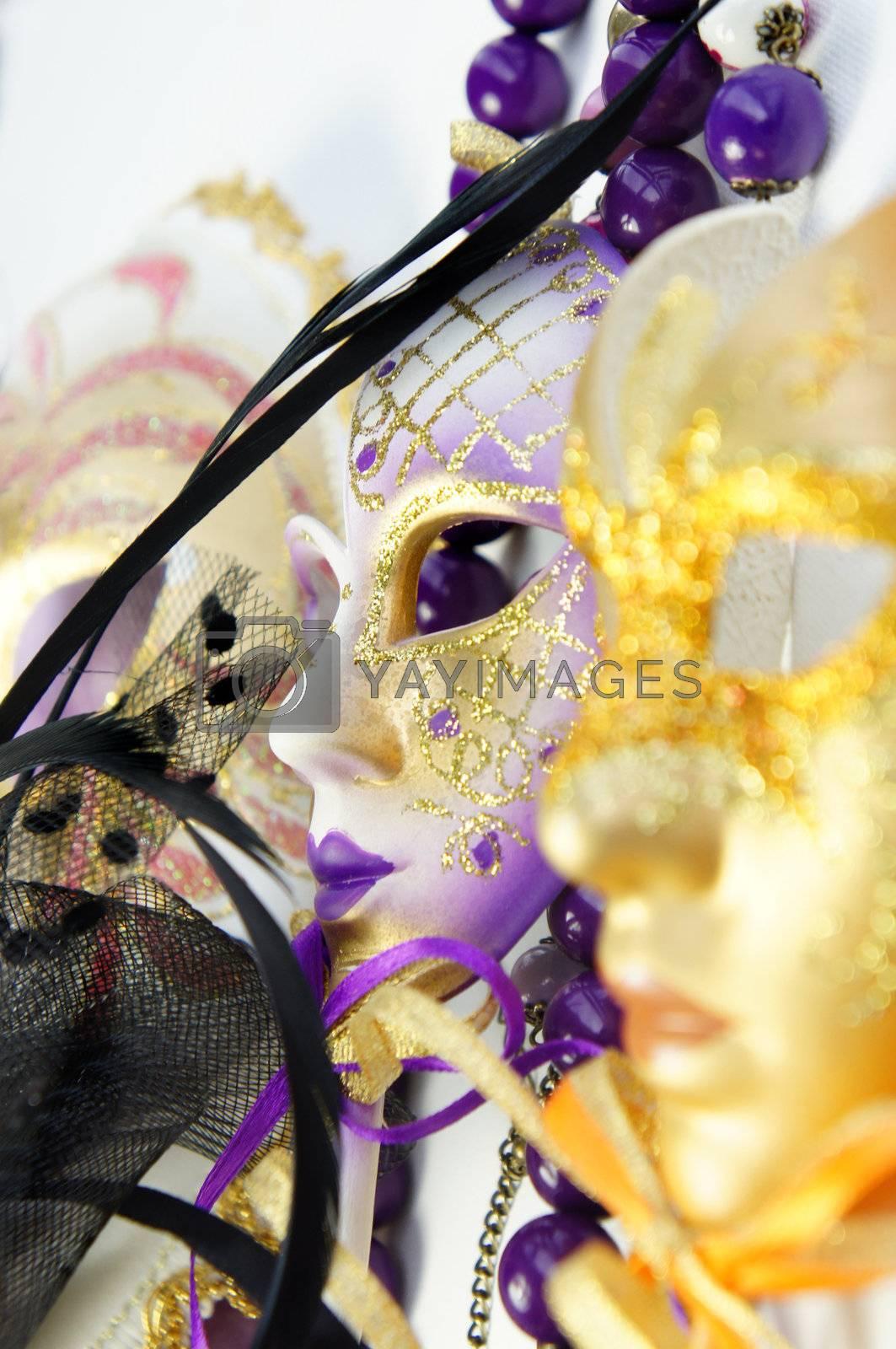Beautiful Venetian carnival masks