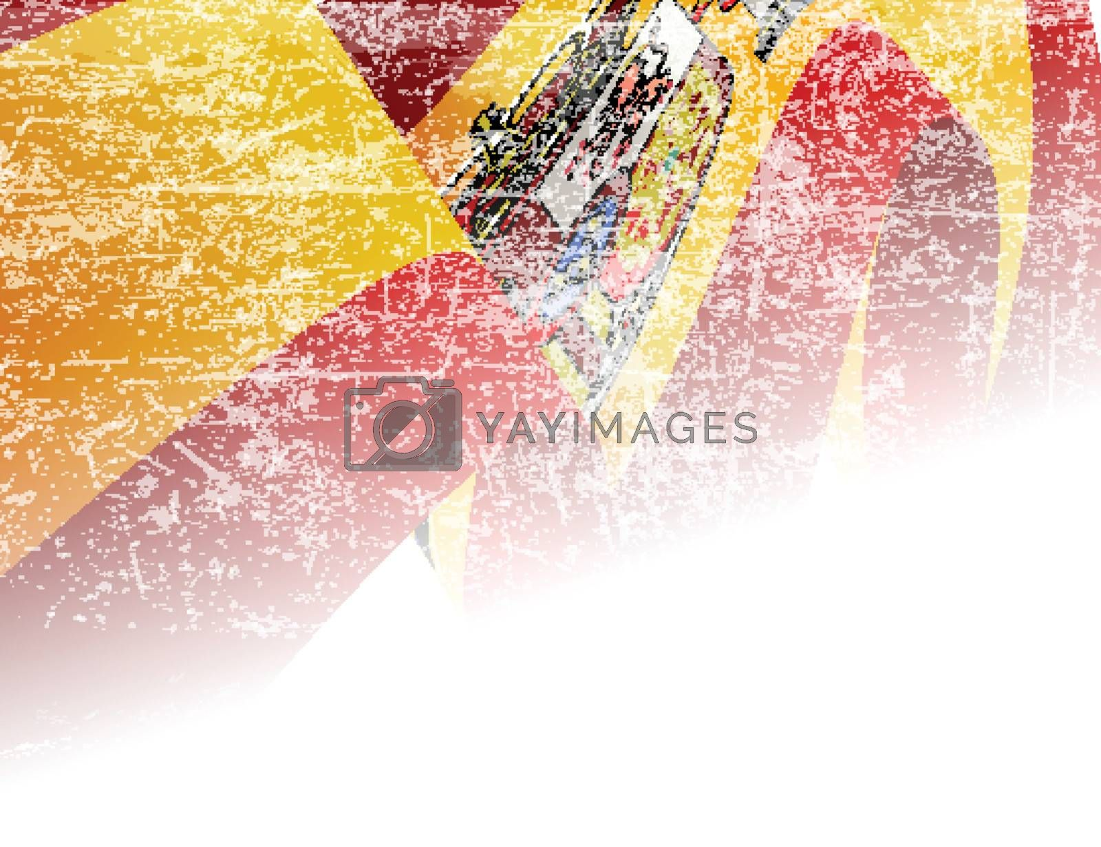 Spain of flag with copyspace and grunge effect