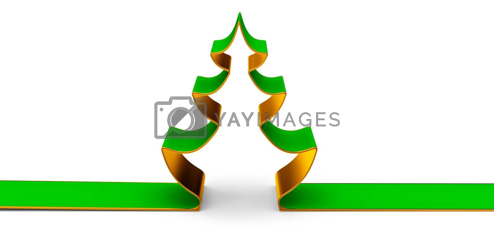 A Christmas tree is a evergreen decorated fir, as traditional symbol of celebration of Christmas