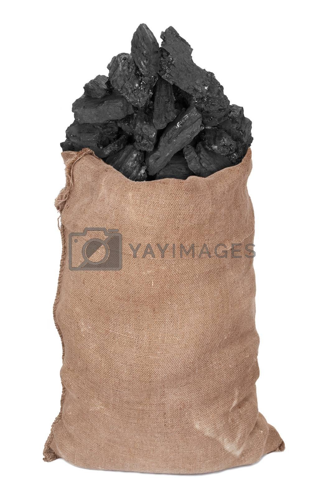 Coal in big sack