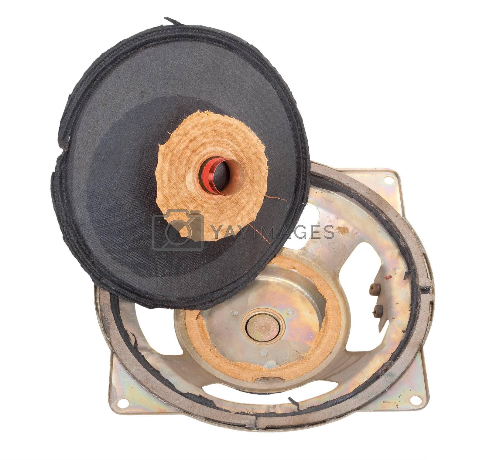 Old broken speaker