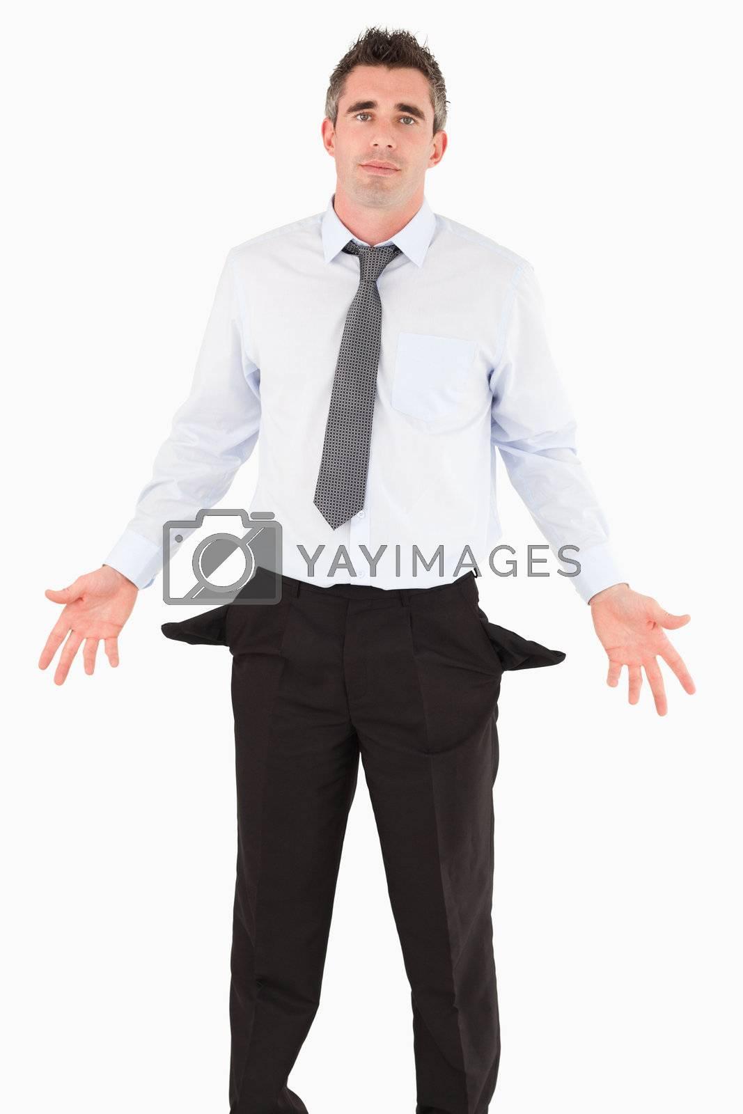 Portrait of a ruined businessman by Wavebreakmedia