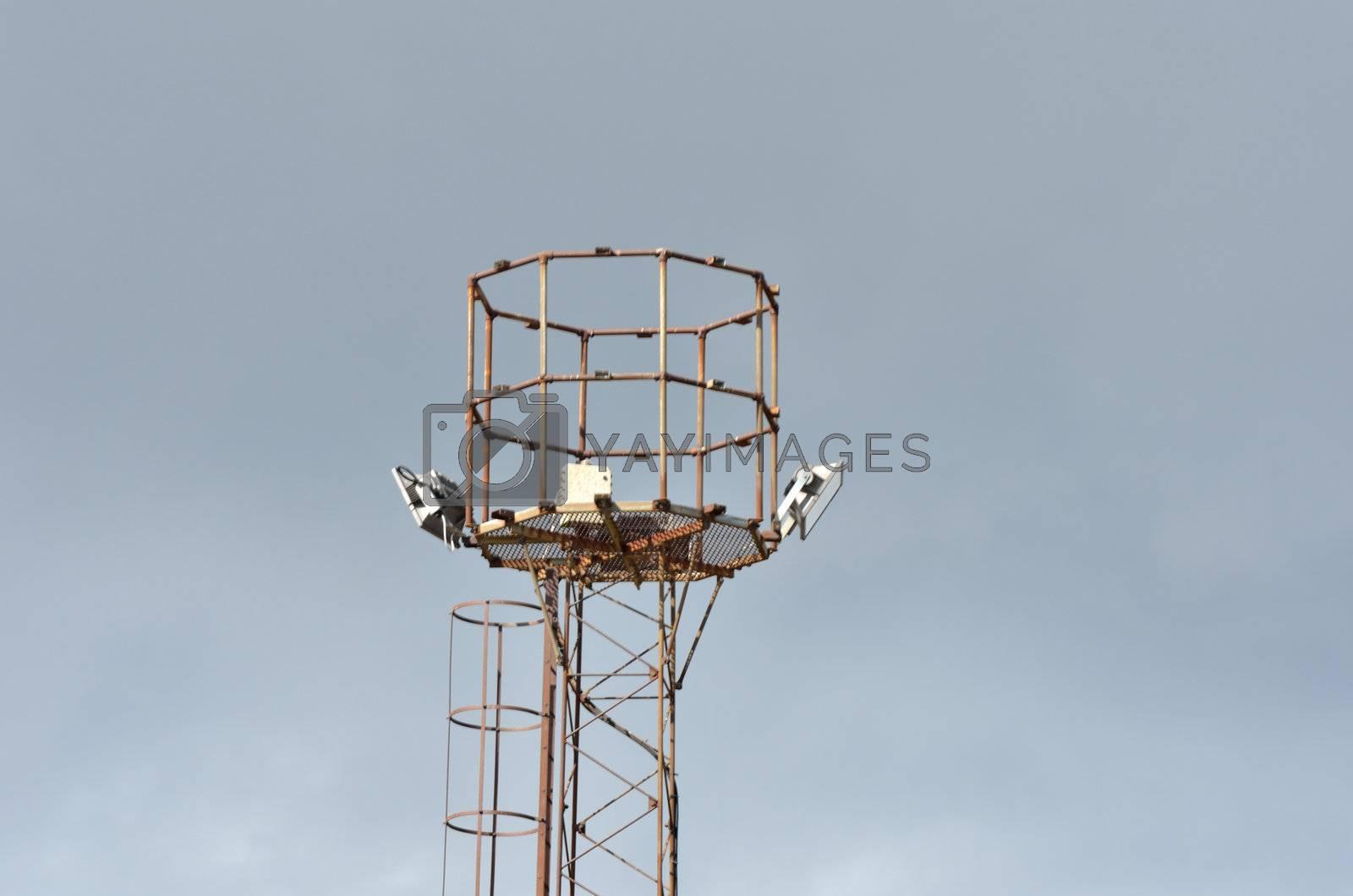 Tall metal tower
