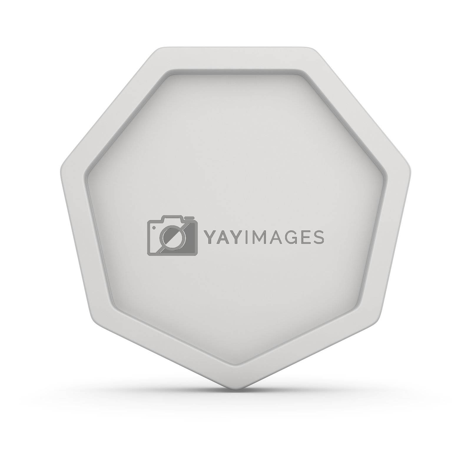 Blank badge on the white background