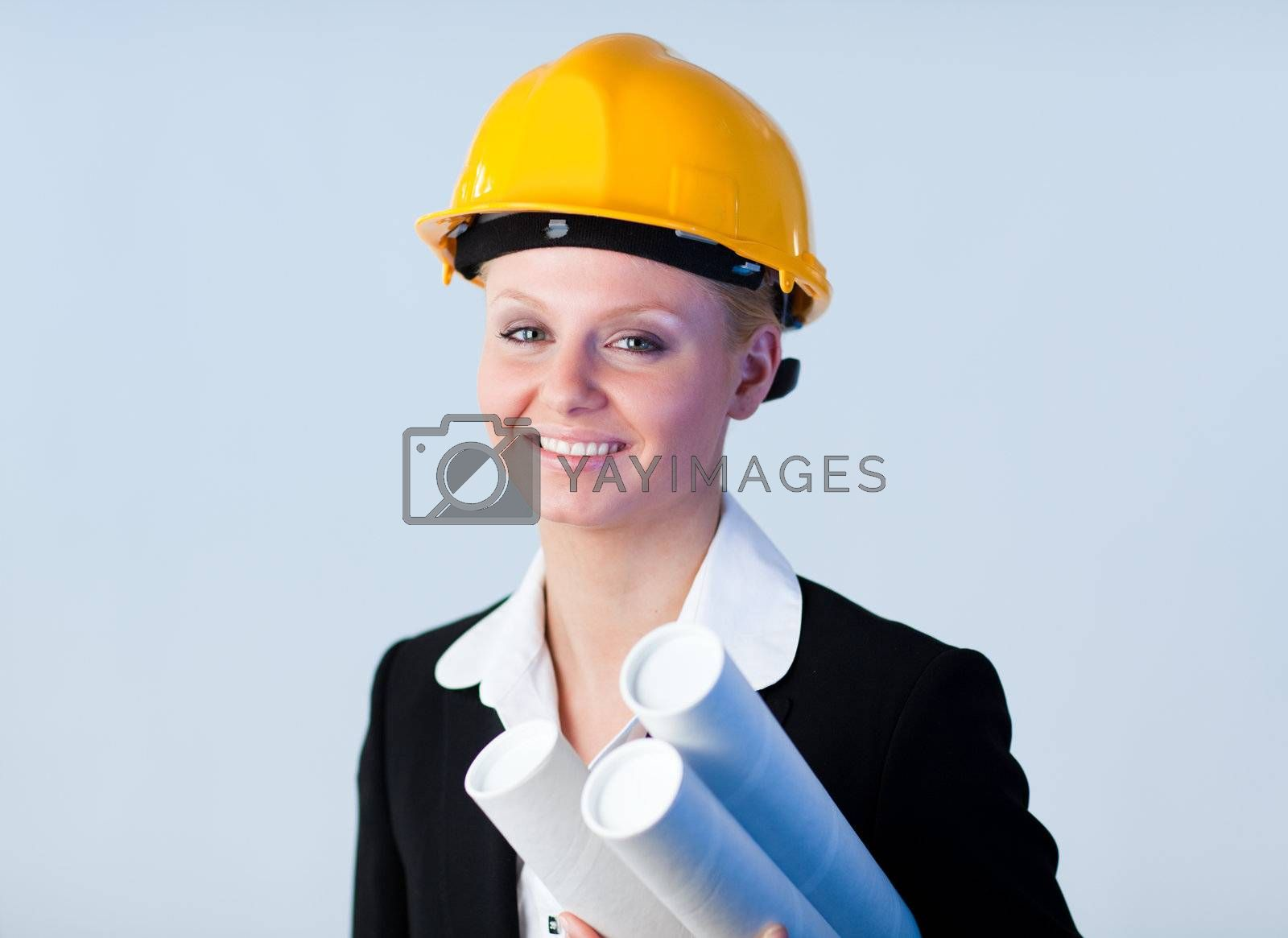 Confident looking  female architect