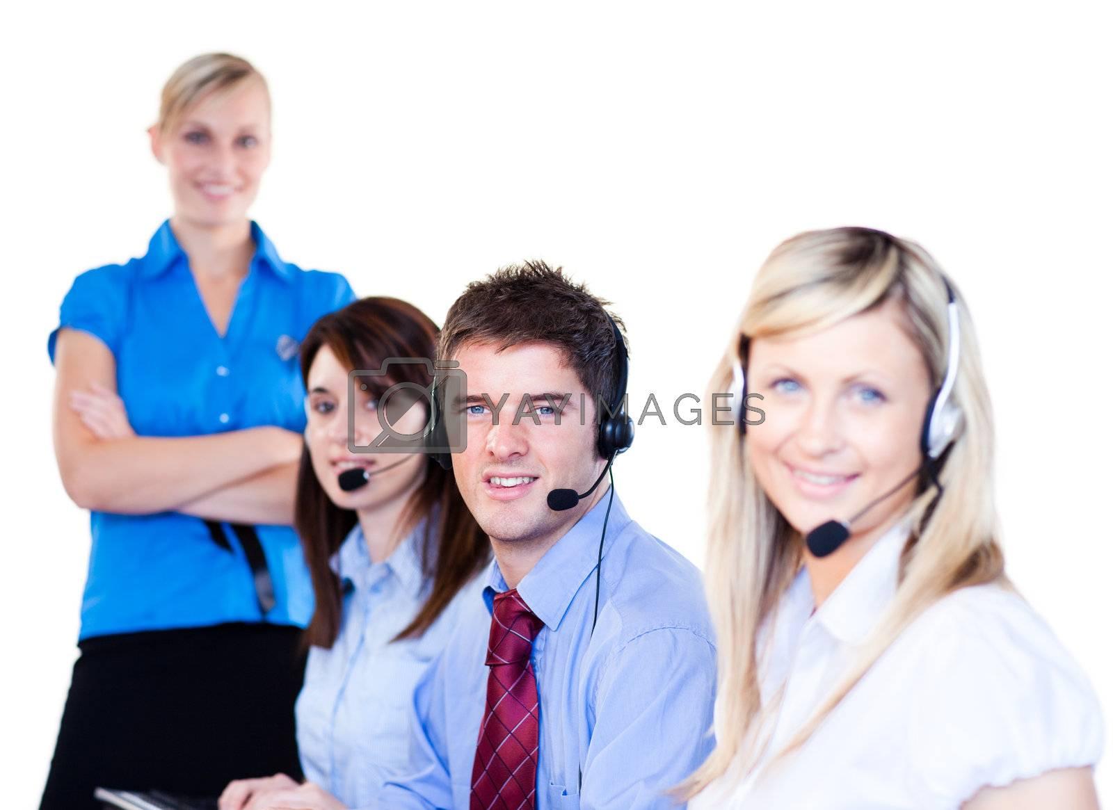 Group of operators by Wavebreakmedia